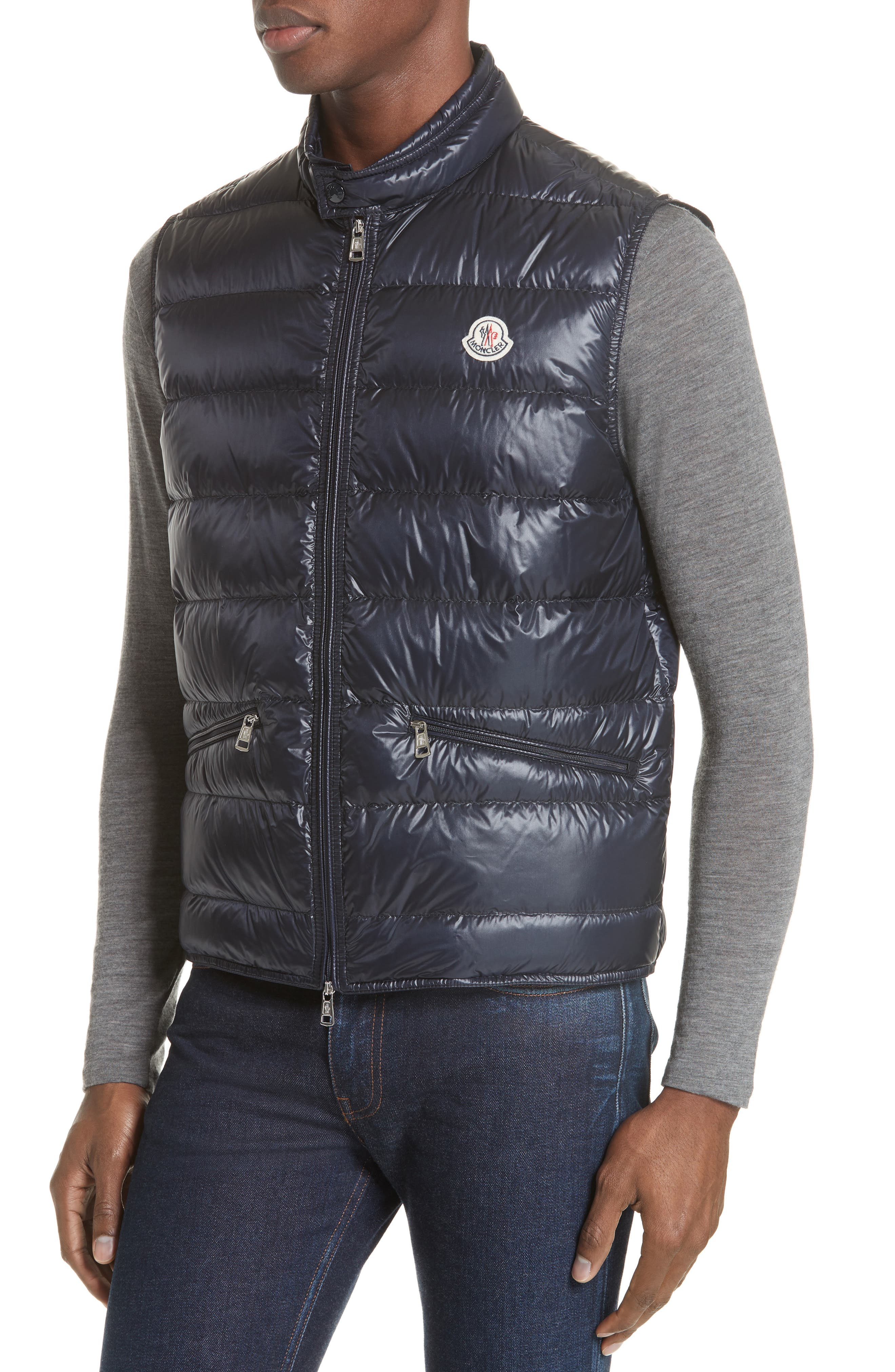 Gui Down Vest,                             Alternate thumbnail 4, color,                             Navy