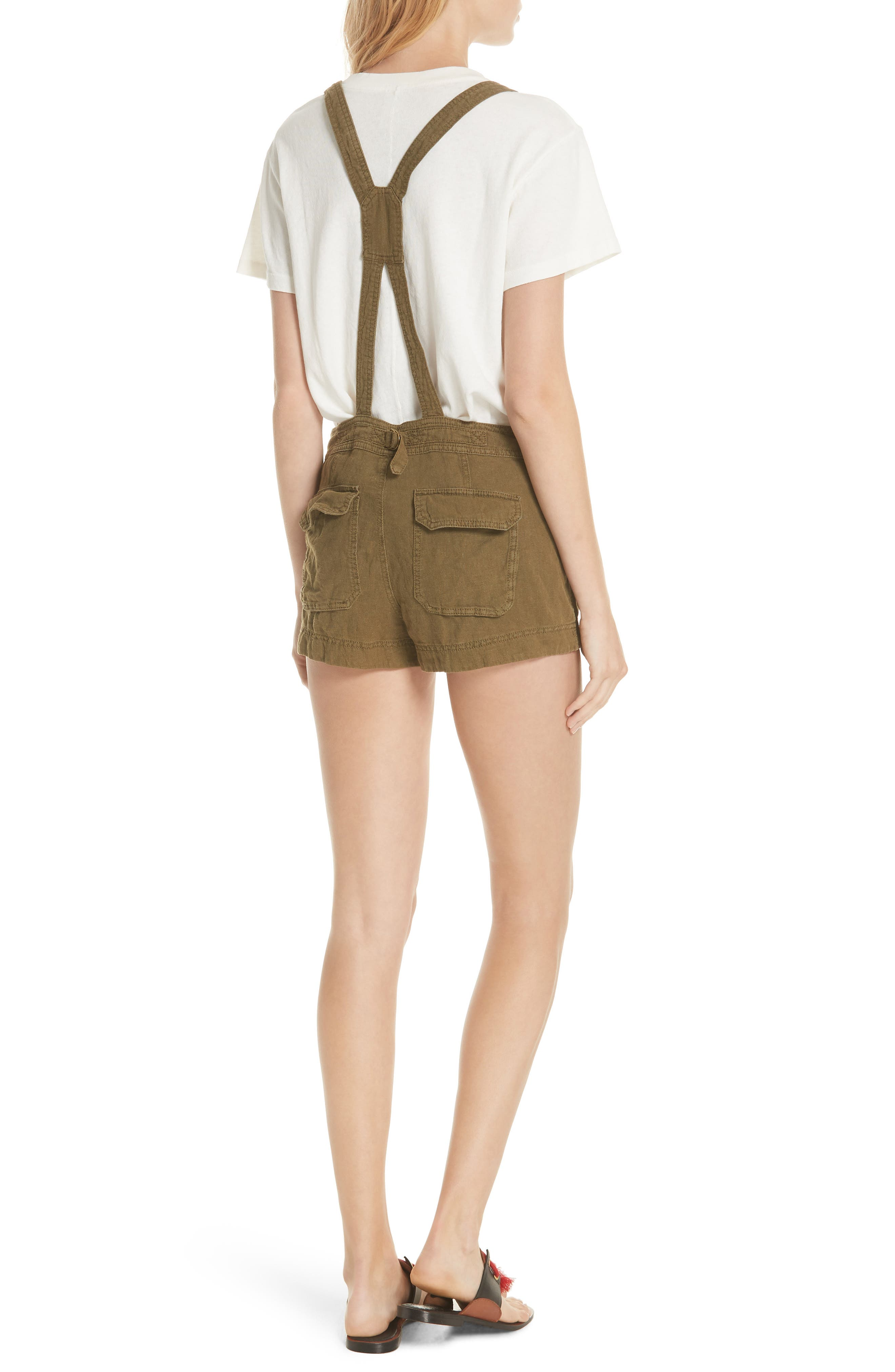 Expedition Short Overalls,                             Alternate thumbnail 2, color,                             Army