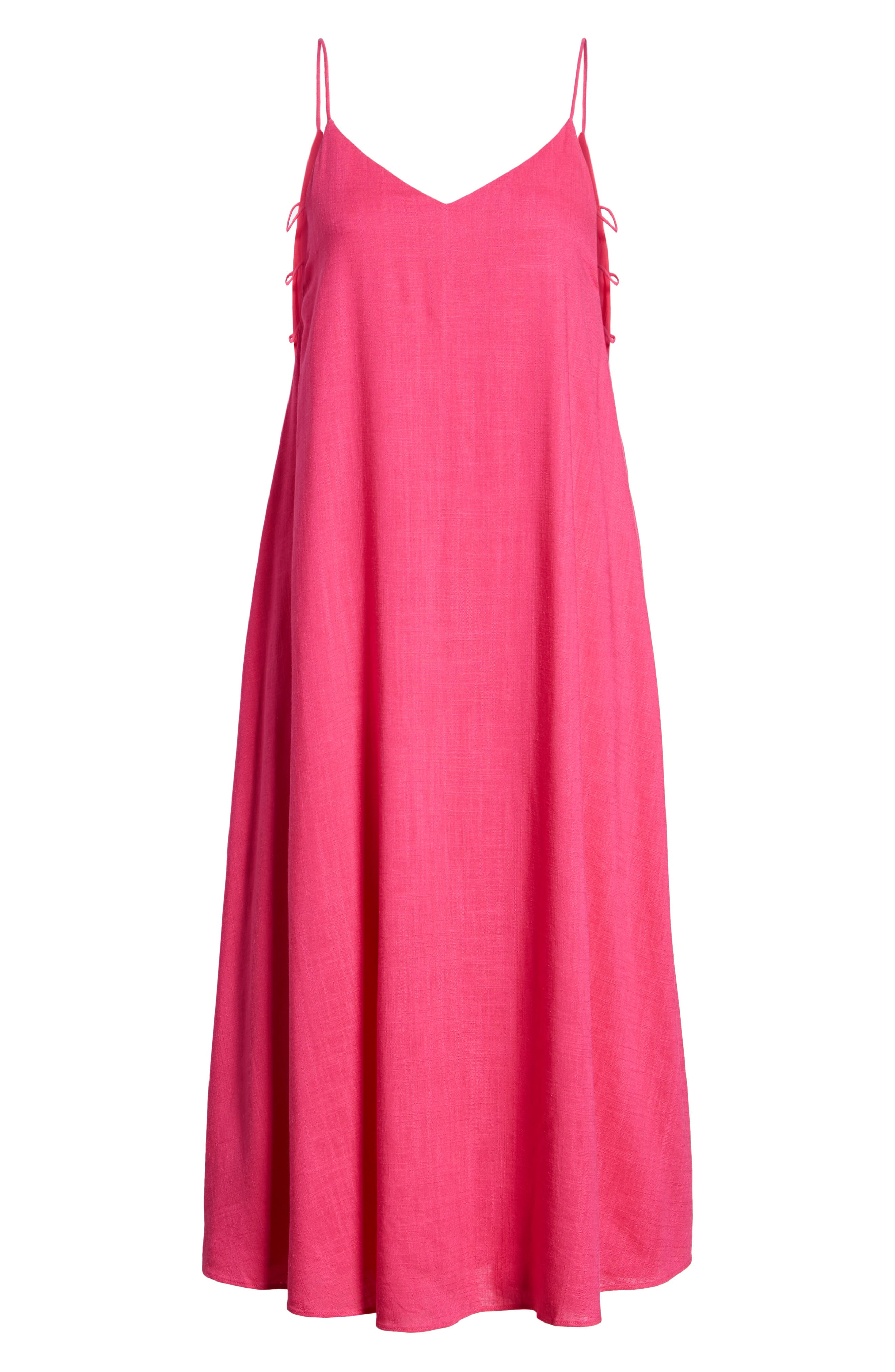 Trapeze Dress,                             Alternate thumbnail 8, color,                             Fuchsia