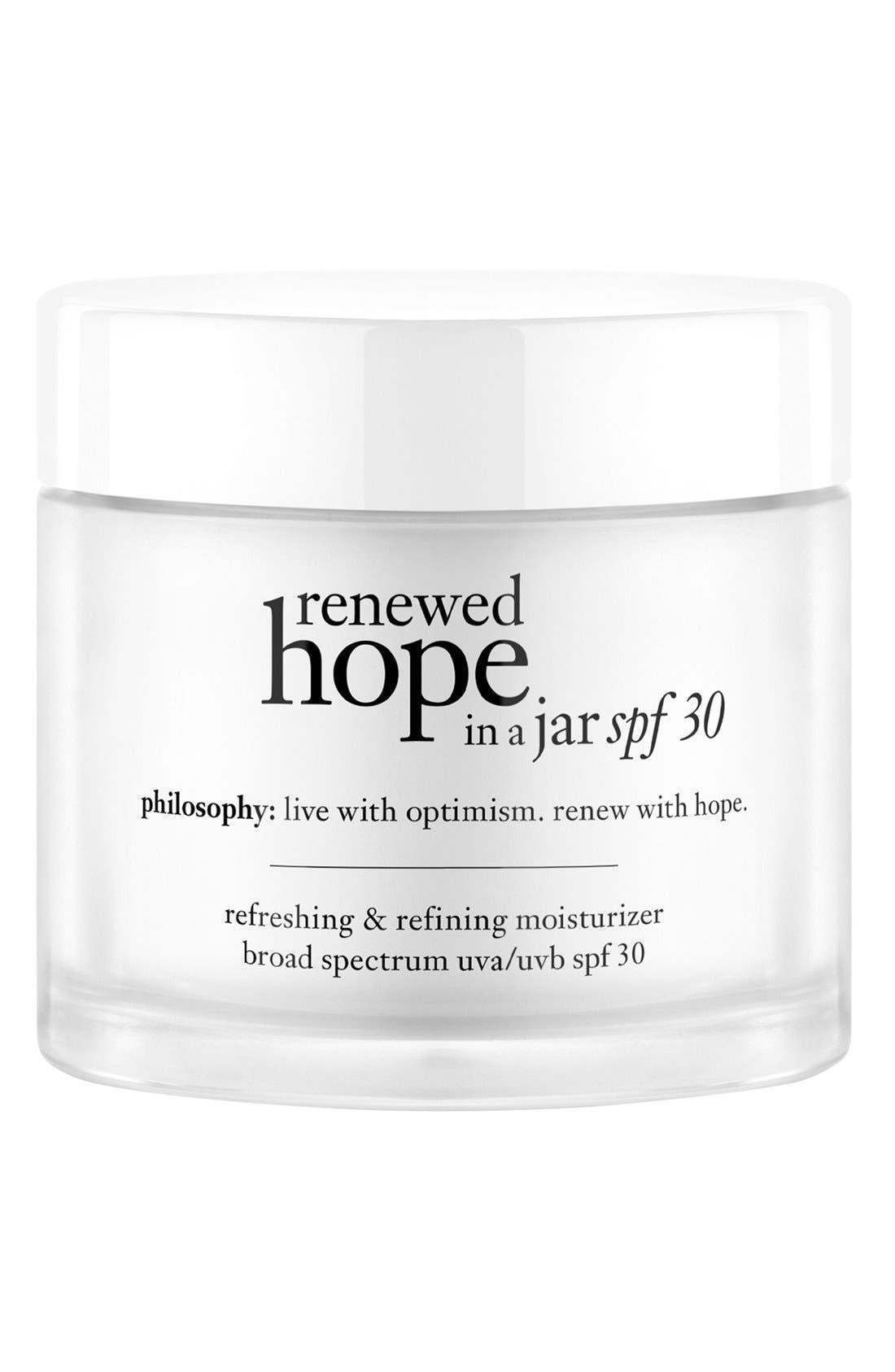 philosophy renewed hope in a jar refreshing & refining moisturizer SPF 30