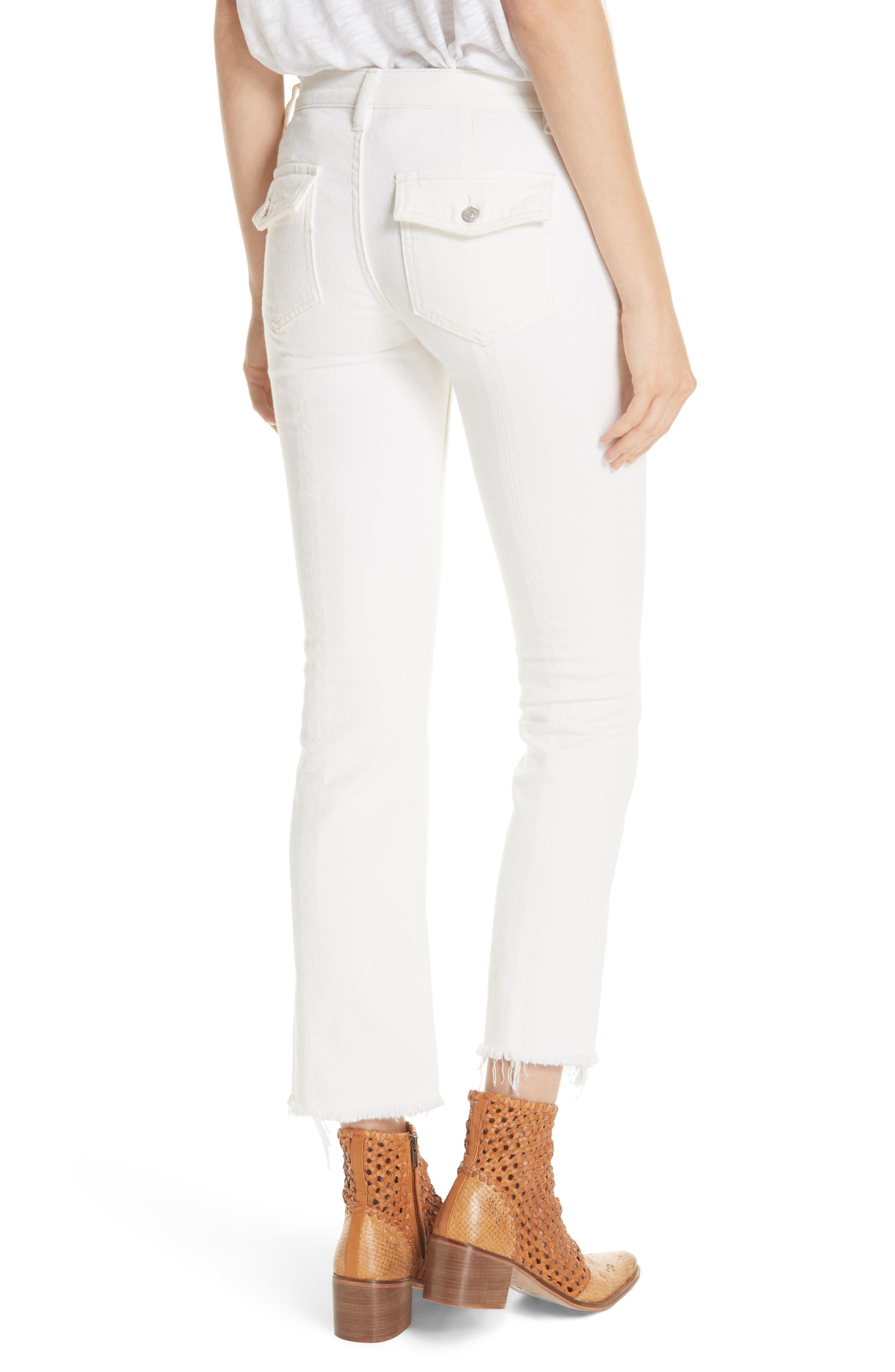 Austen Straight Leg Jeans,                             Alternate thumbnail 2, color,                             White