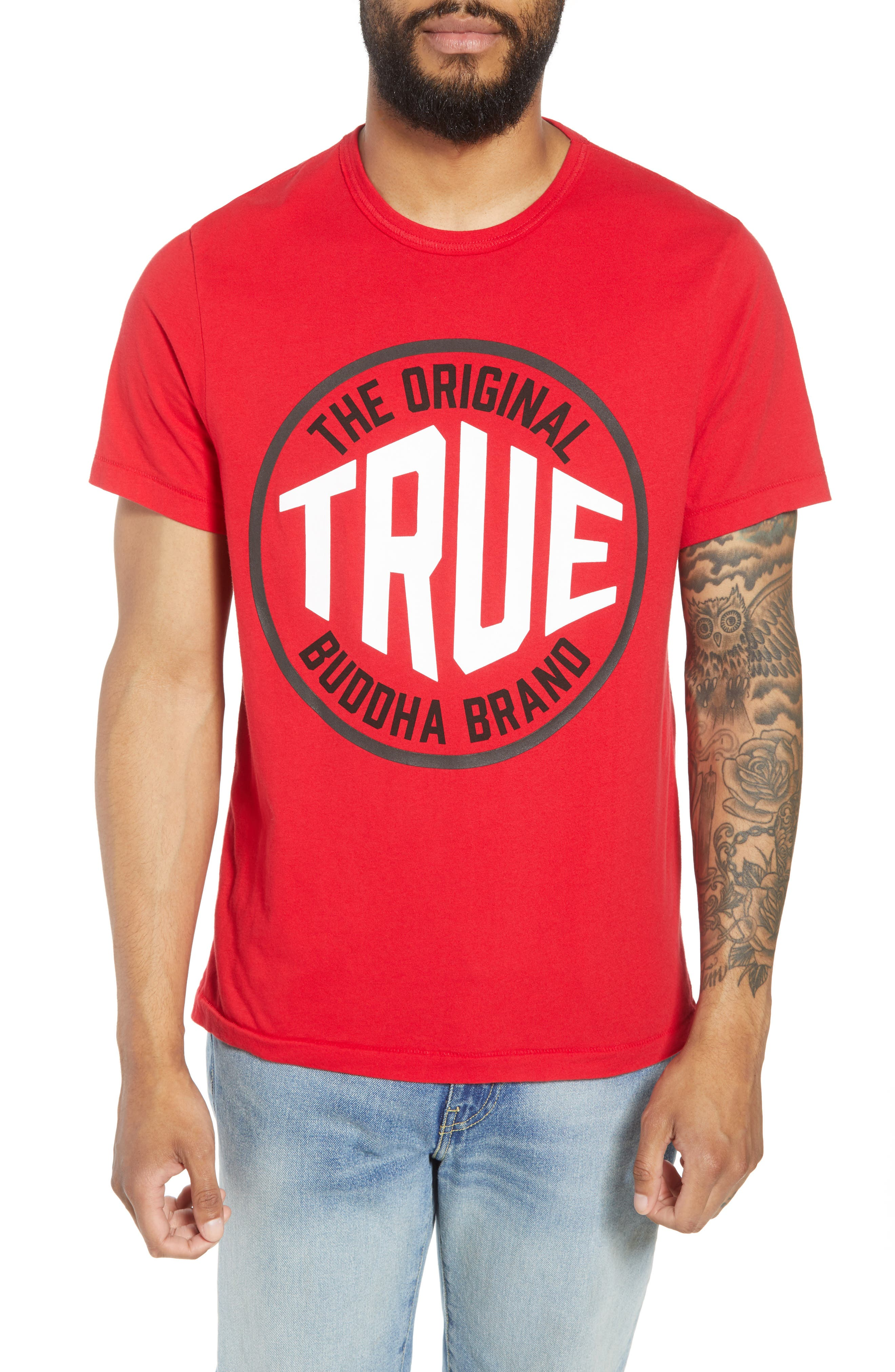 Outfield T-Shirt,                         Main,                         color, True Red