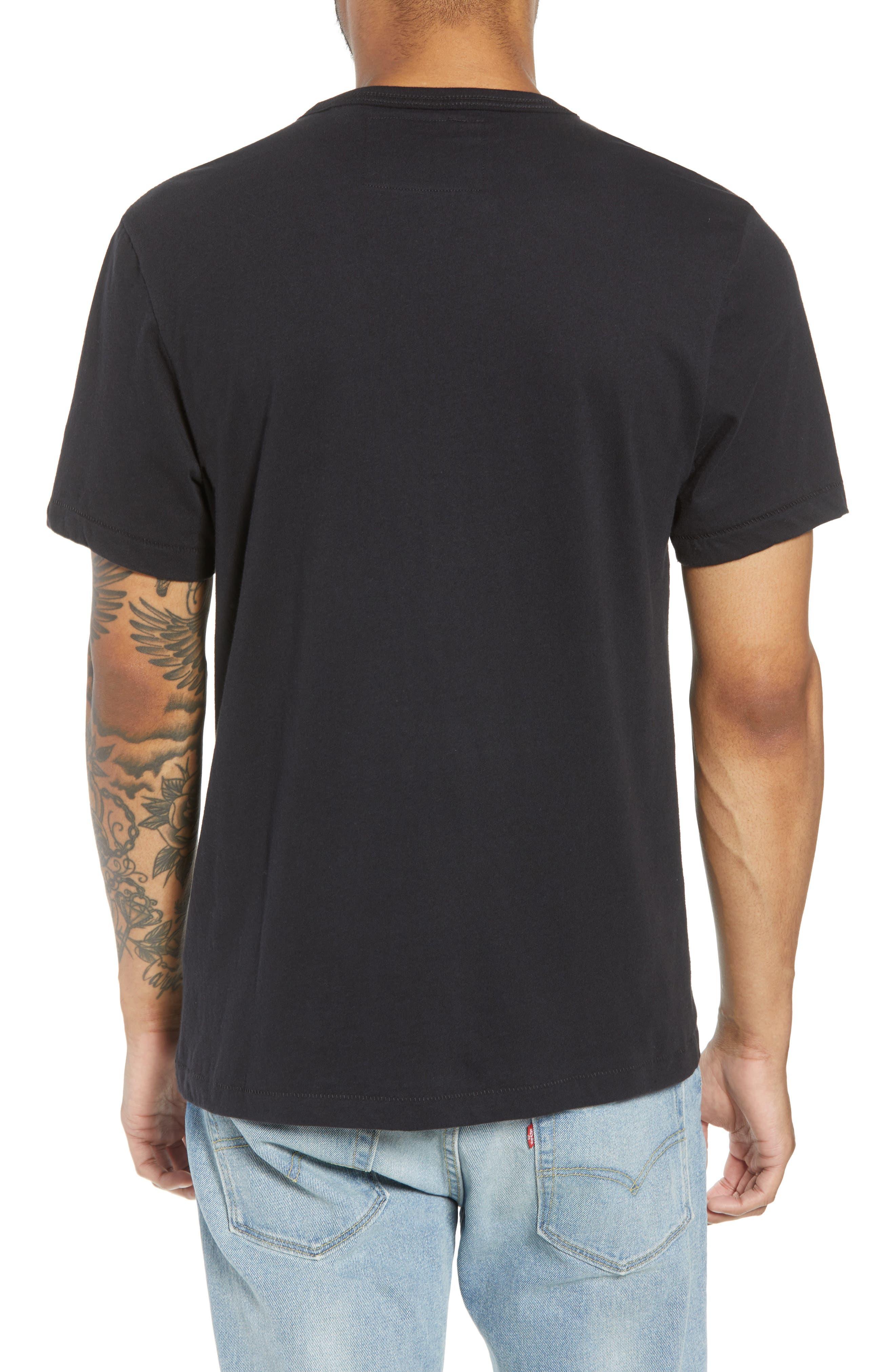 Gold Foil Logo T-Shirt,                             Alternate thumbnail 2, color,                             True Black