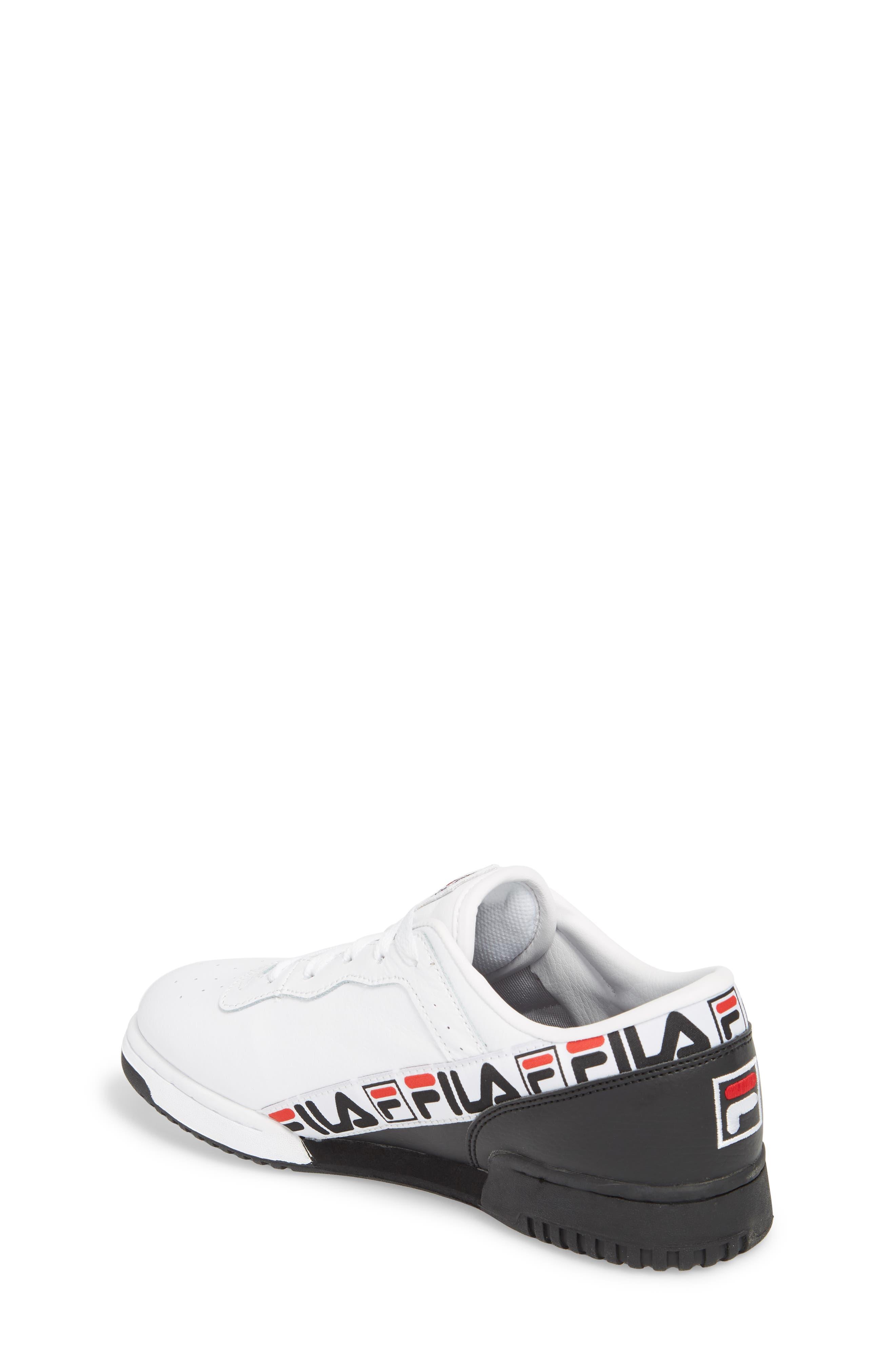 Original Fitness Logo Tape Sneaker,                             Alternate thumbnail 2, color,                             White/ Black/ Fila Red
