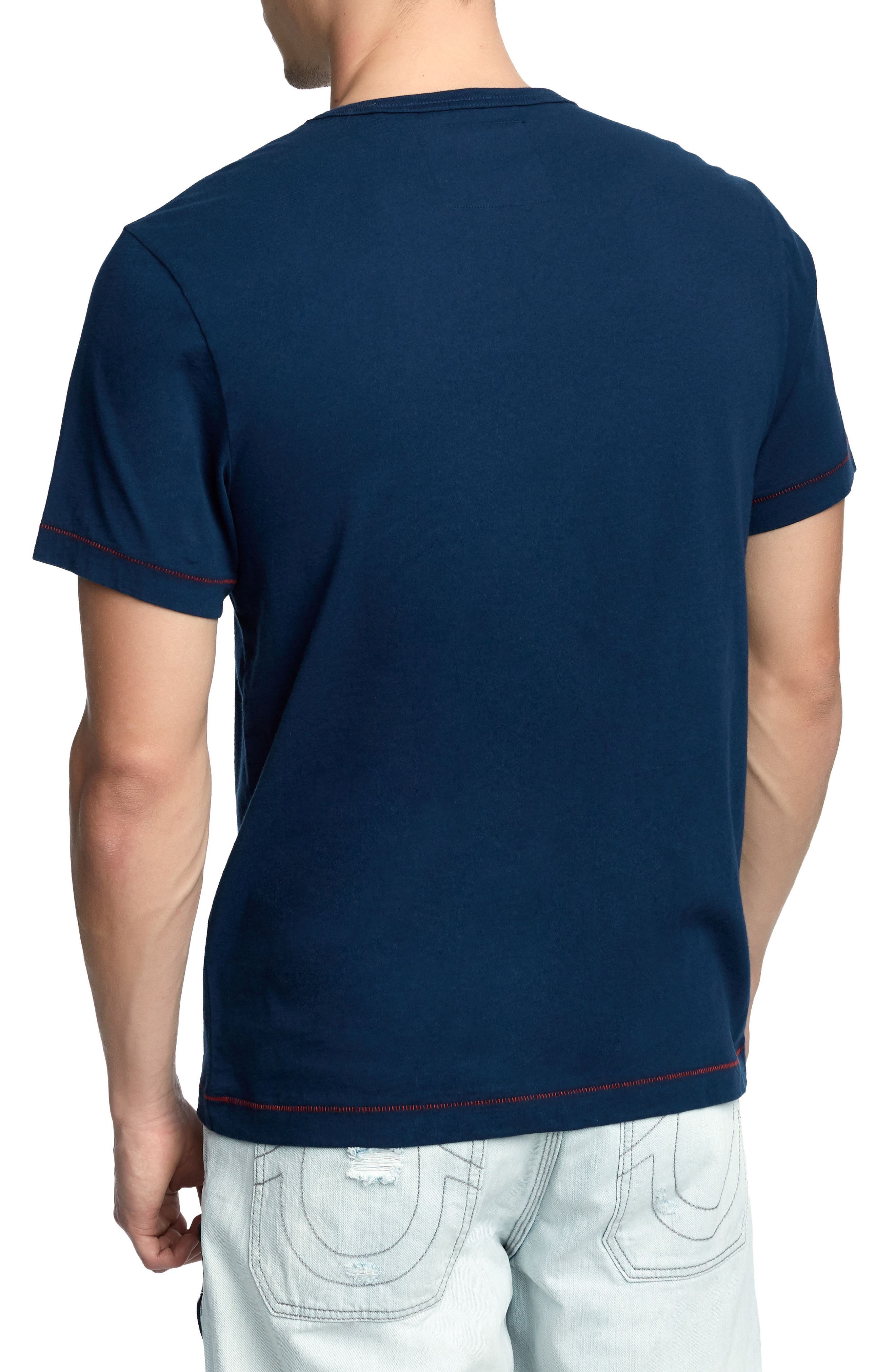 Crafted Eagle T-Shirt,                             Alternate thumbnail 2, color,                             Ace Blue