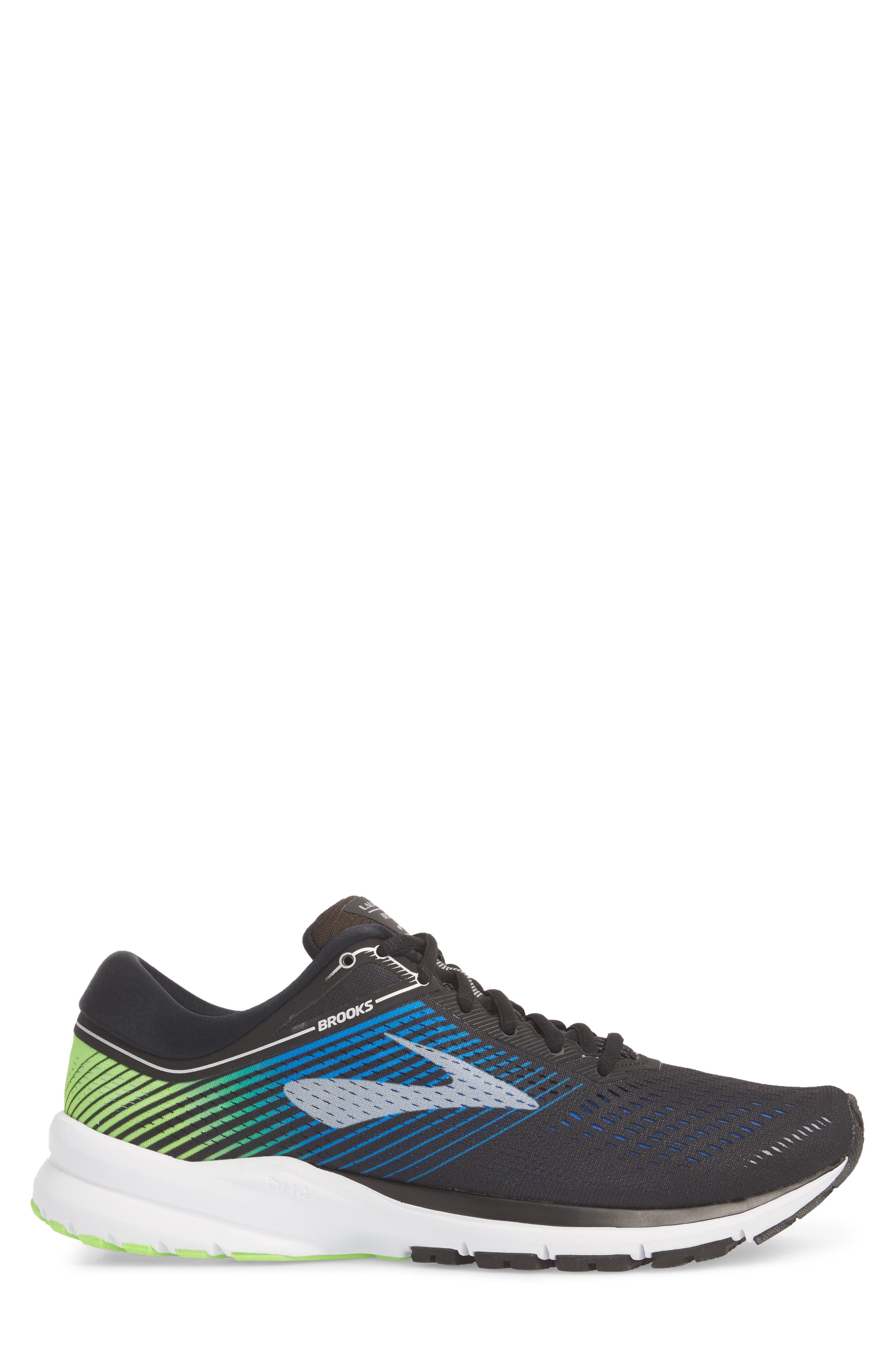 Launch 5 Running Shoe,                             Alternate thumbnail 3, color,                             Black/ Blue/ Green