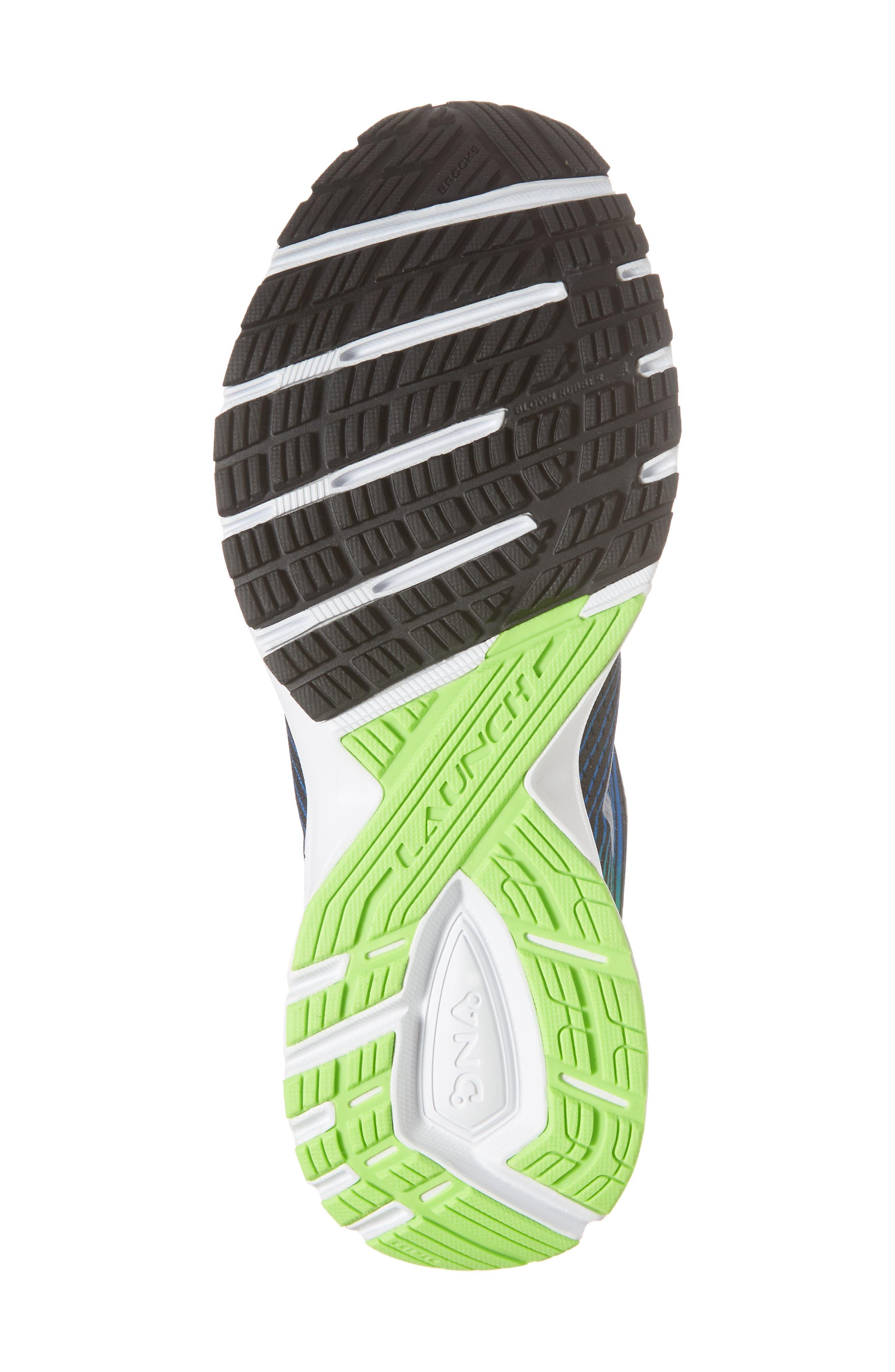 Launch 5 Running Shoe,                             Alternate thumbnail 6, color,                             Black/ Blue/ Green