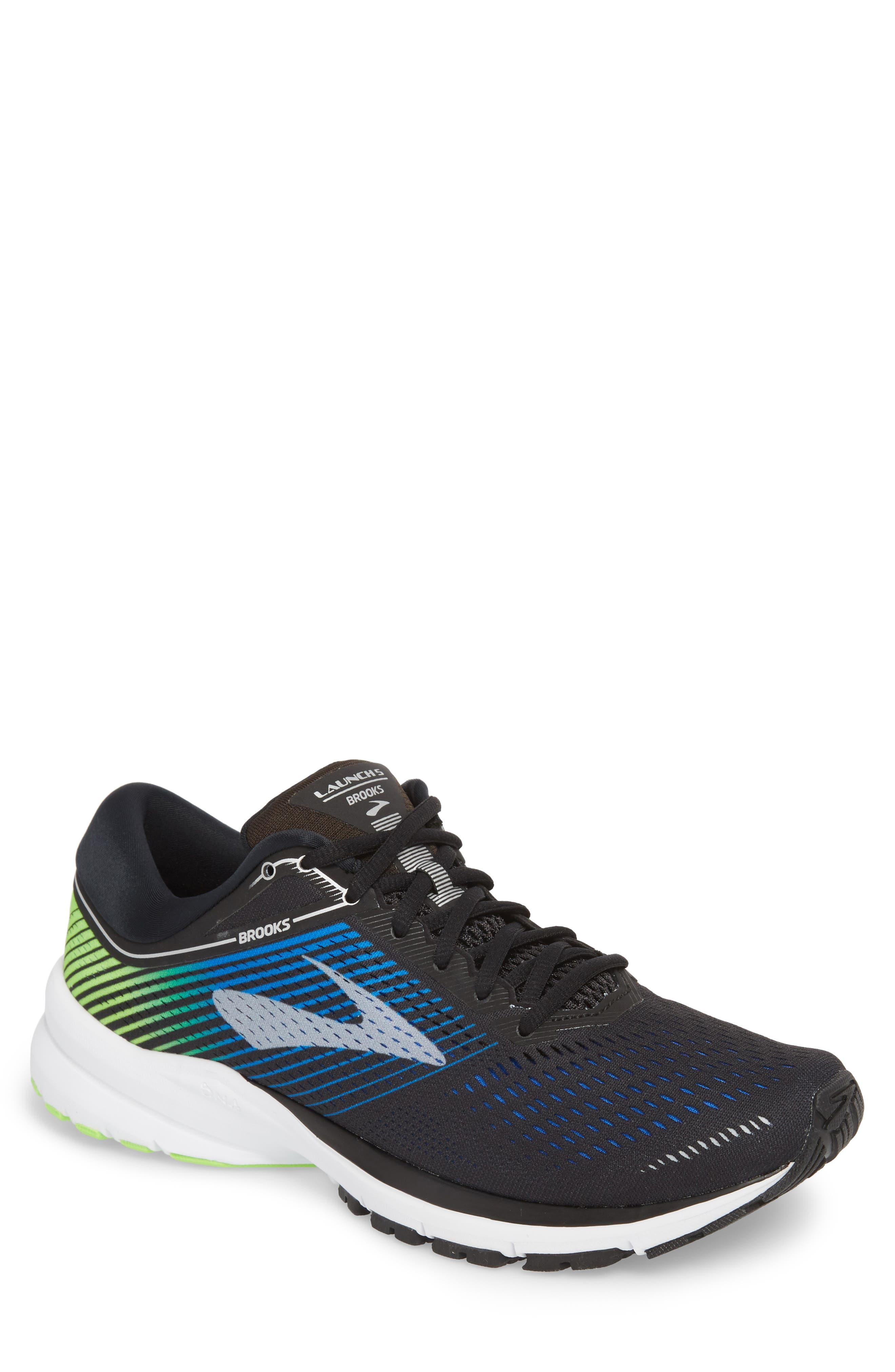 Launch 5 Running Shoe,                             Main thumbnail 1, color,                             Black/ Blue/ Green
