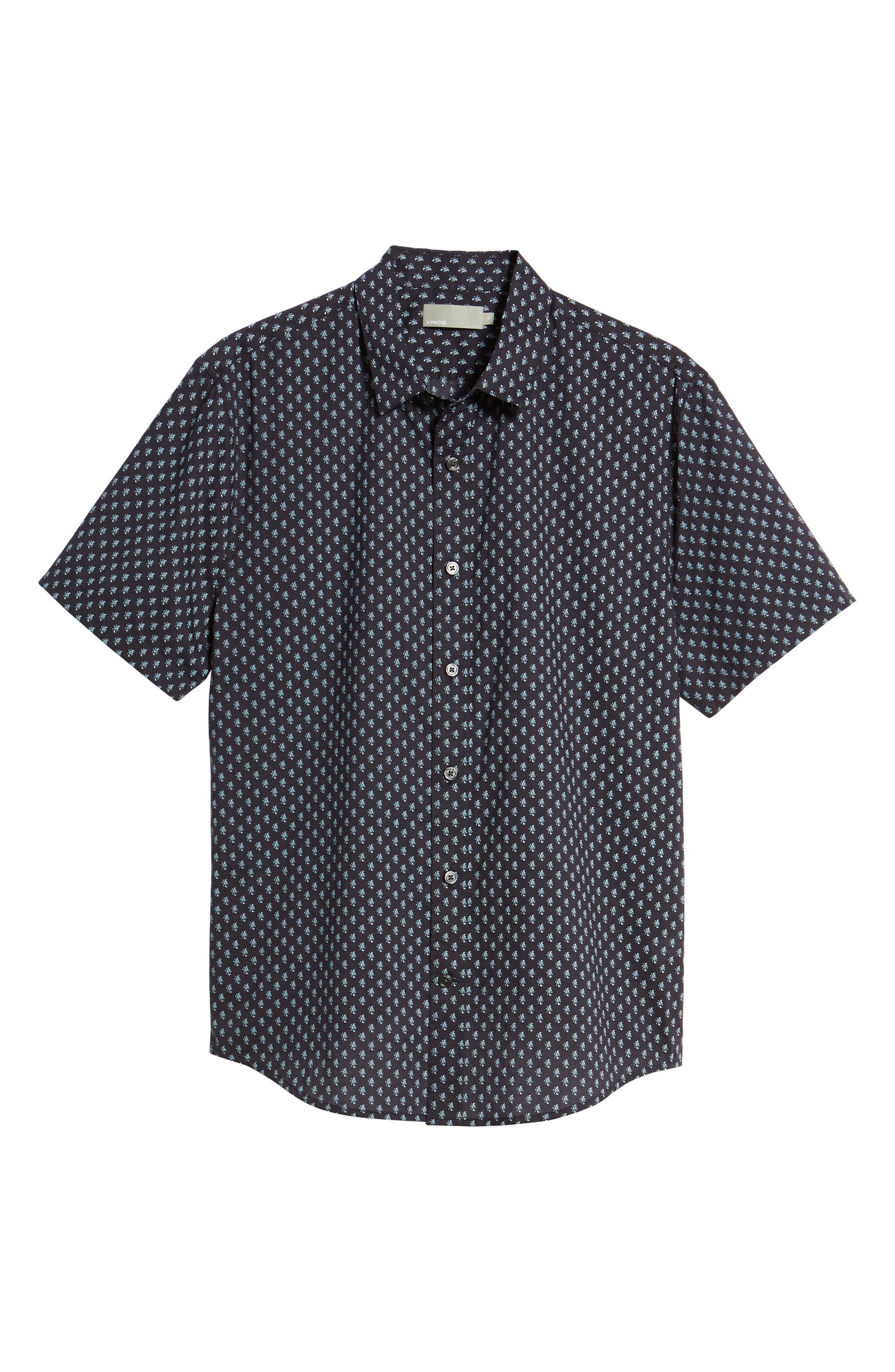 Classic Fit Print Short Sleeve Sport Shirt,                             Alternate thumbnail 6, color,                             New Coastal