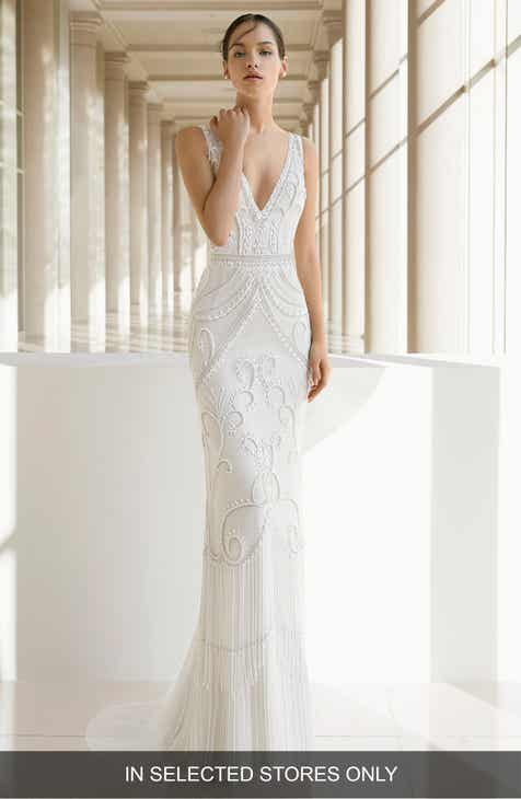 Wedding dresses bridal gowns nordstrom rosa clar kara beaded trumpet gown junglespirit Gallery