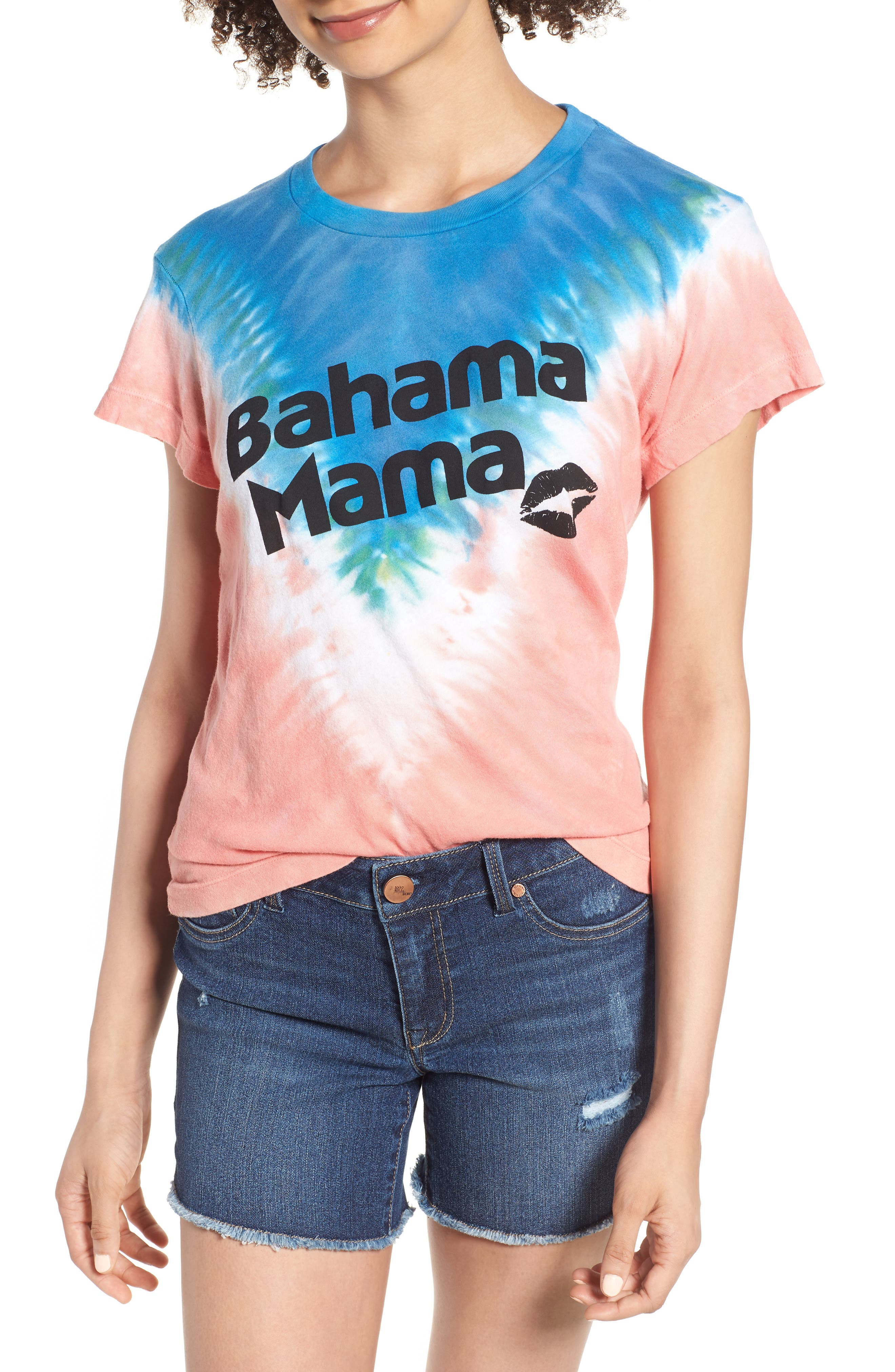Bahama Mama No9 Tee,                             Main thumbnail 1, color,                             Pacific Tie Dye