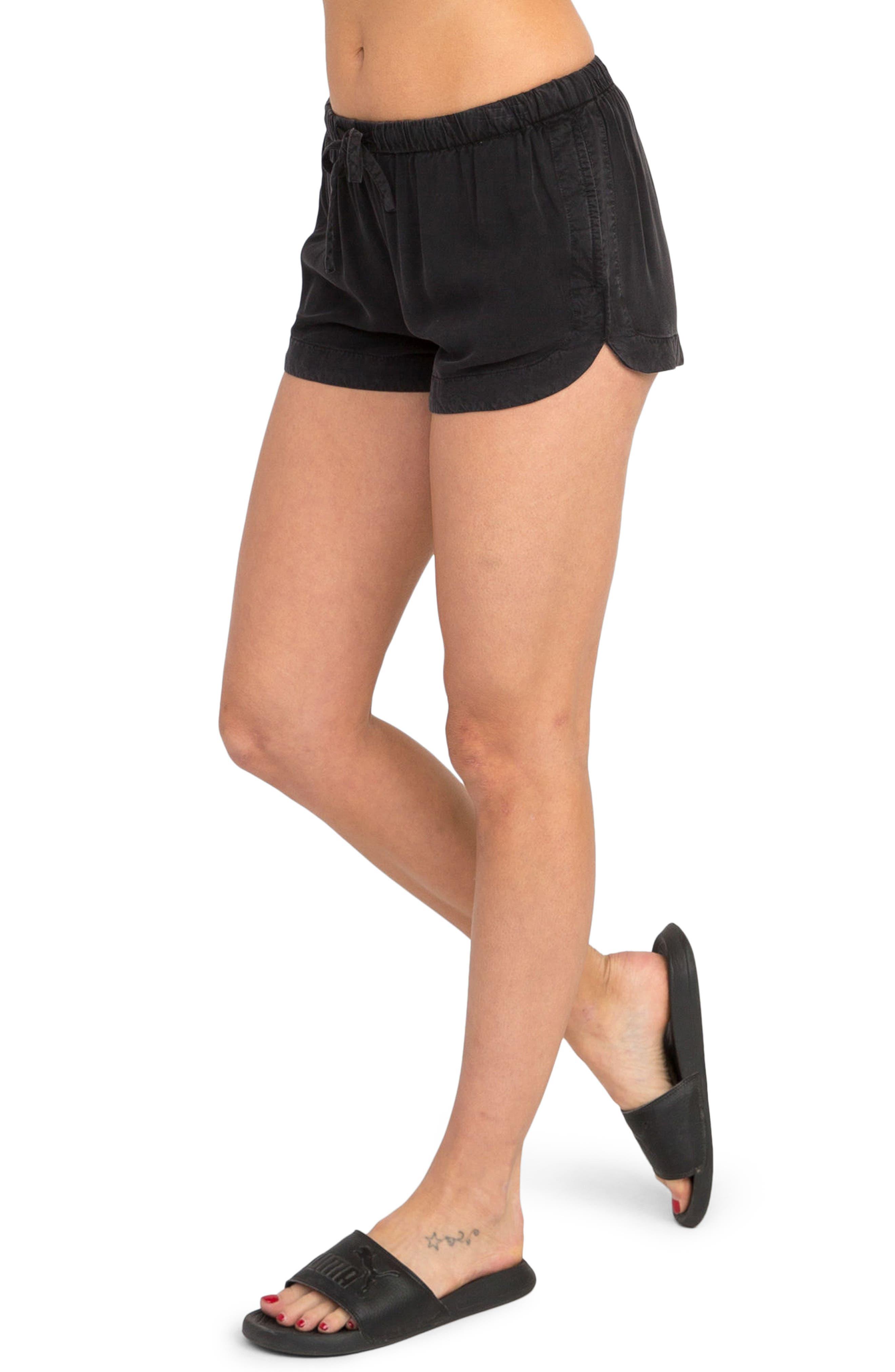 New Yume Dolphin Shorts,                             Alternate thumbnail 5, color,                             Black