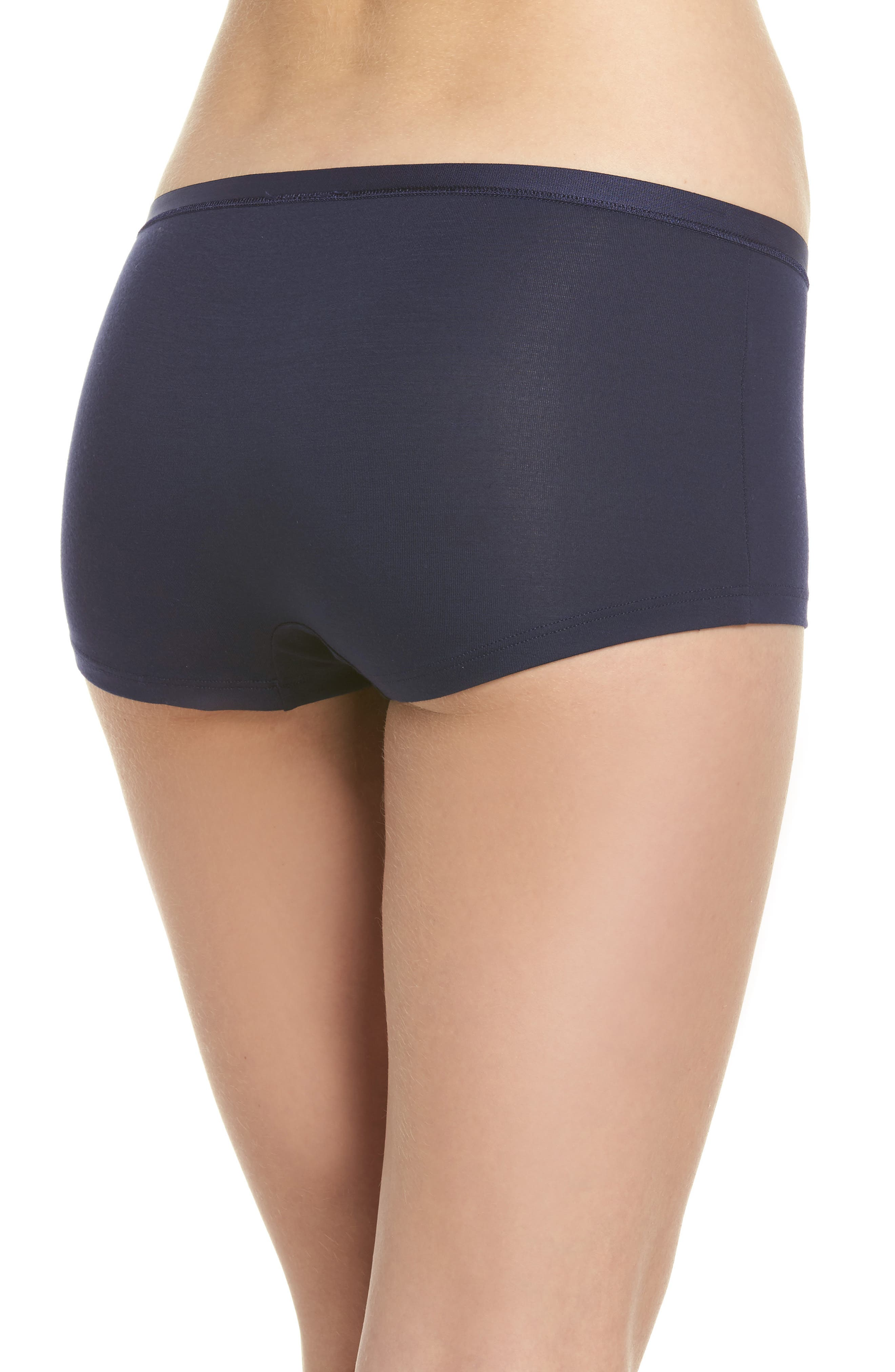 Soft Touch Stretch Modal Boyshorts,                             Alternate thumbnail 2, color,                             Crown Blue