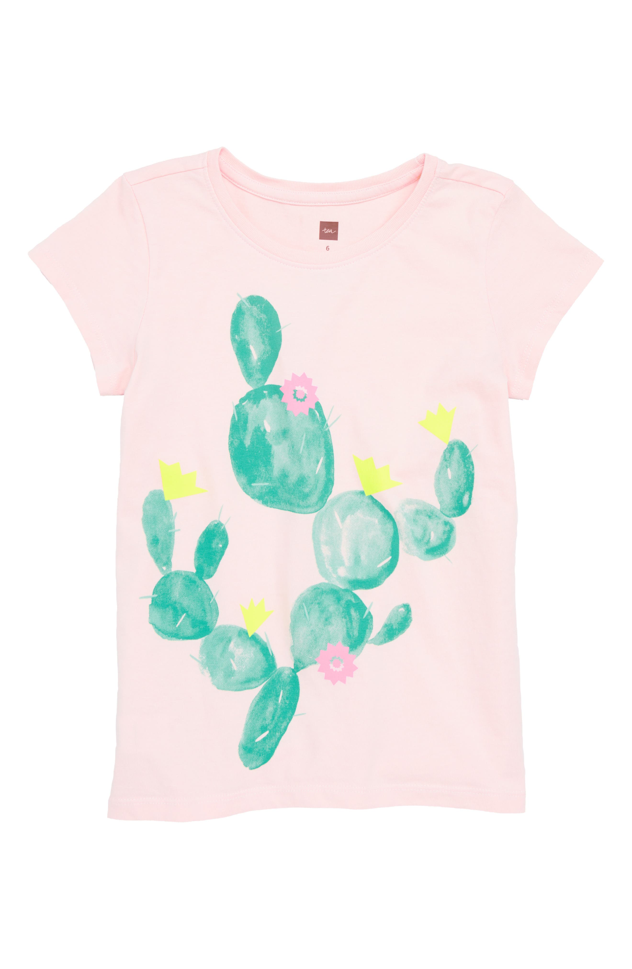 Prickly Cacti Graphic Tee,                         Main,                         color, Pink Gloss