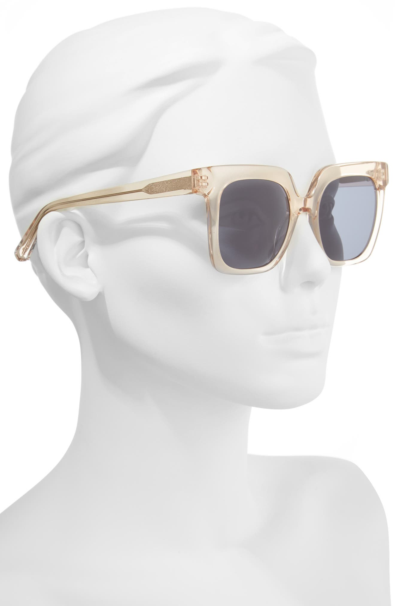 Rae 51mm Square Sunglasses,                             Alternate thumbnail 2, color,                             Crystal Tea