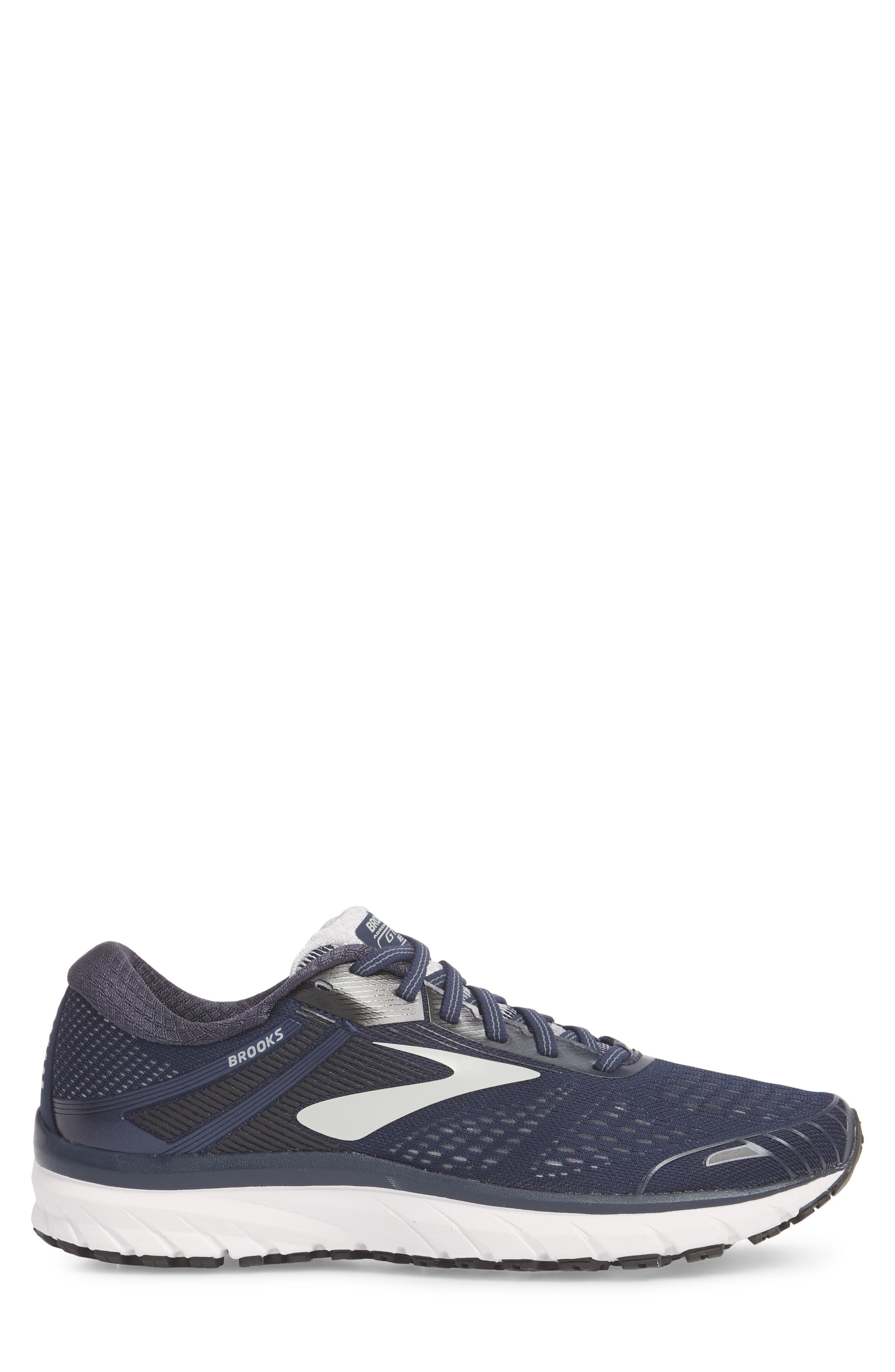 Adrenaline GTS 18 Running Shoe,                             Alternate thumbnail 3, color,                             Navy/ Grey/ Black