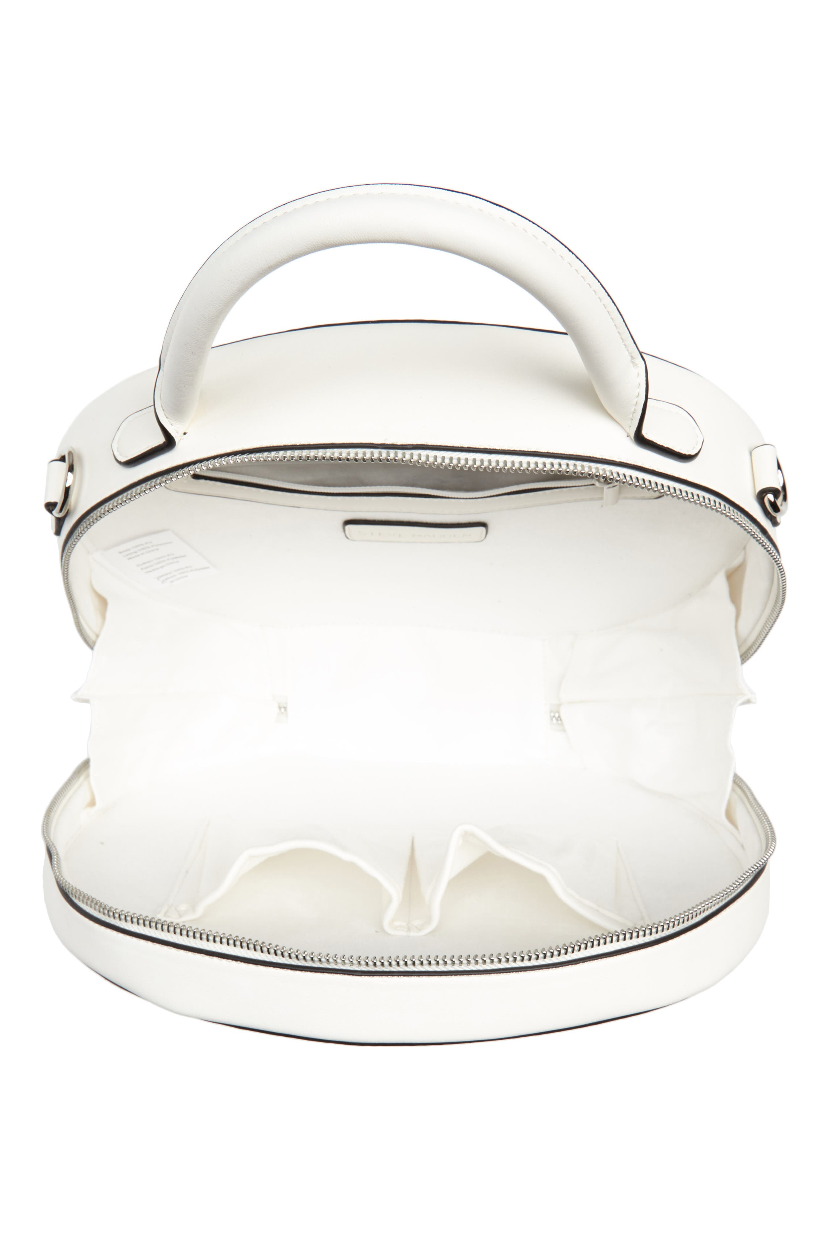 Large Pebbled Canteen Bag,                             Alternate thumbnail 4, color,                             White