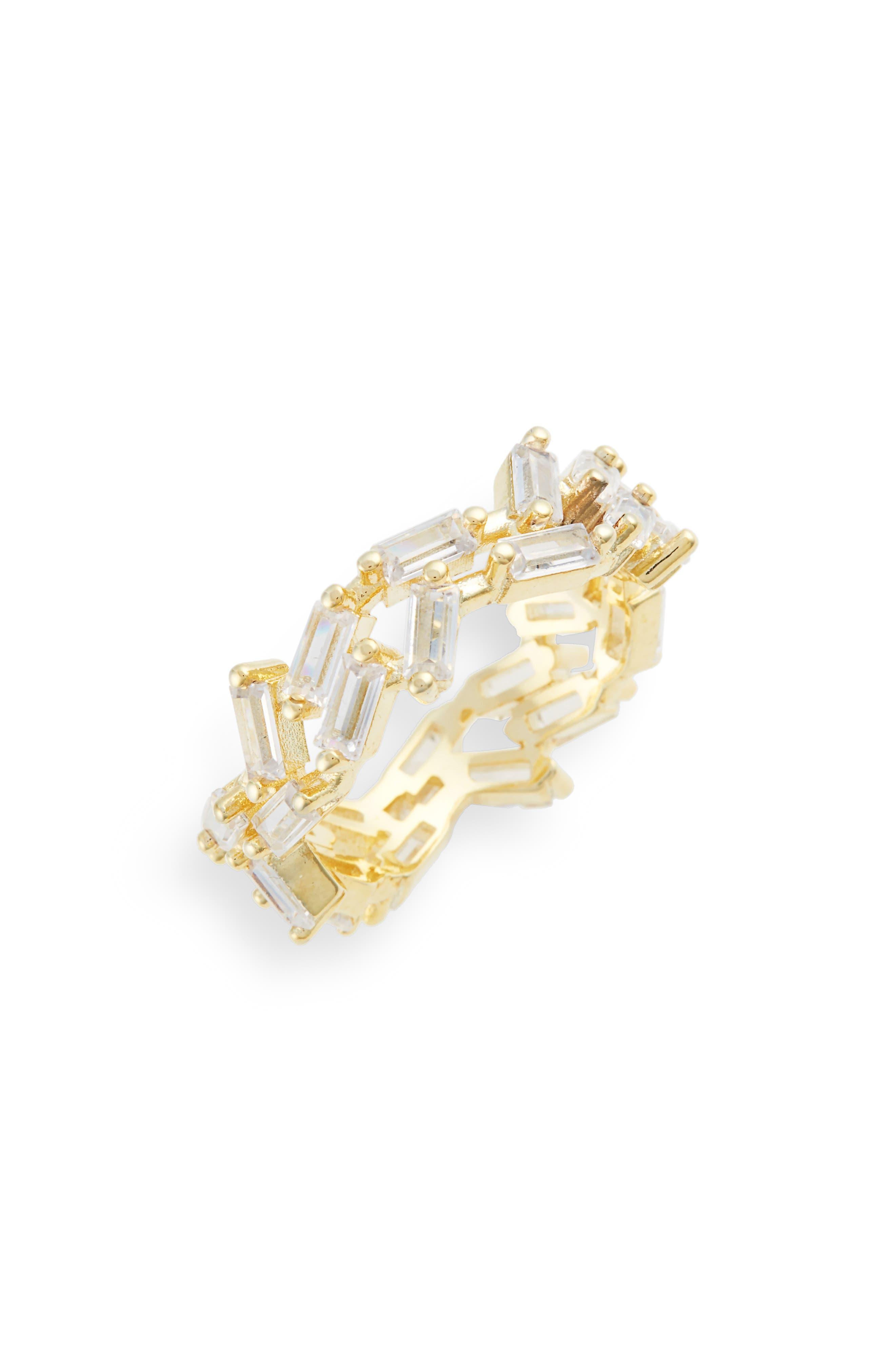 Dagmar Crystal Eternity Ring,                         Main,                         color, Gold
