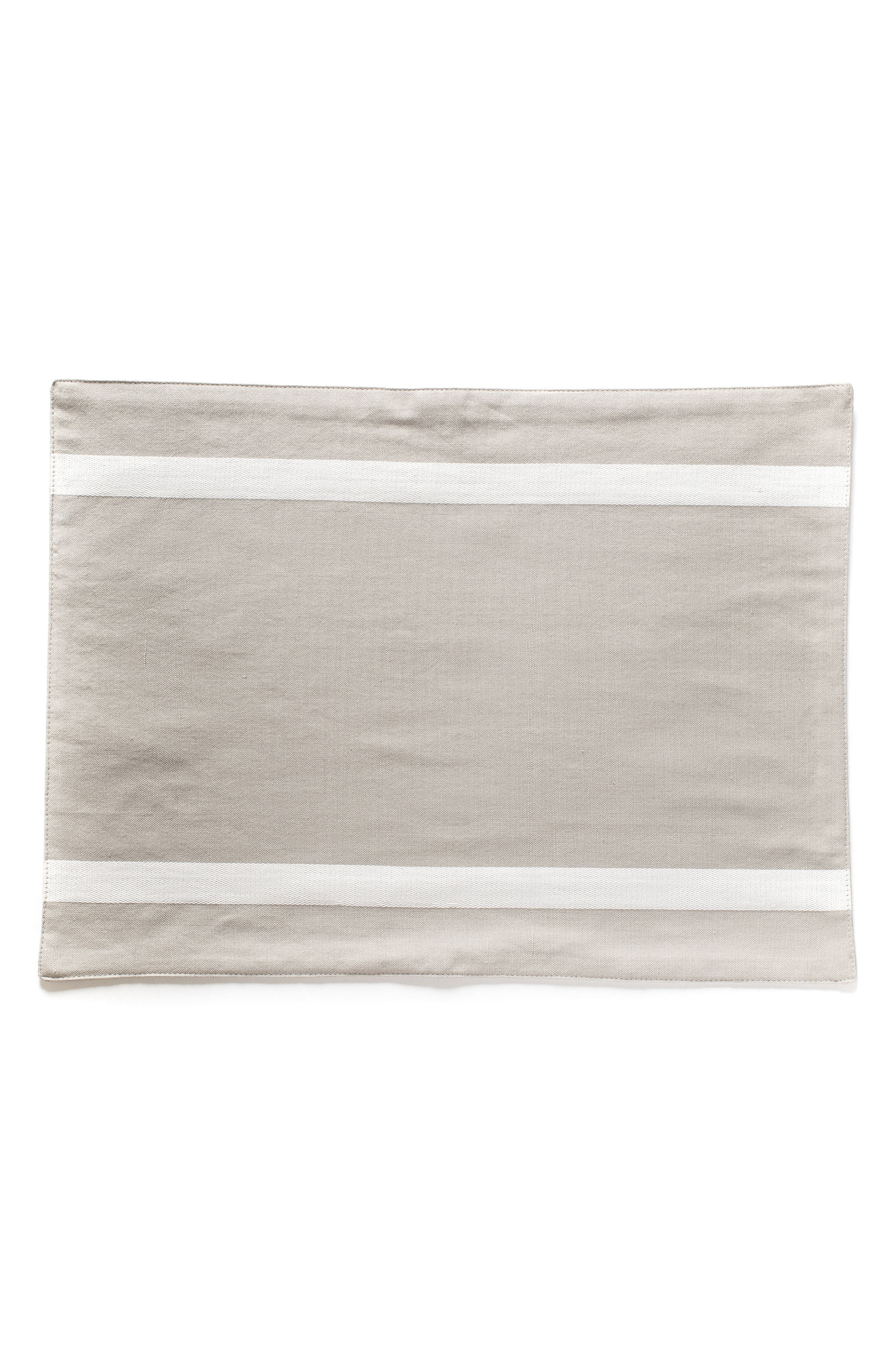 Piper Placemats,                         Main,                         color, Fog/ Gray