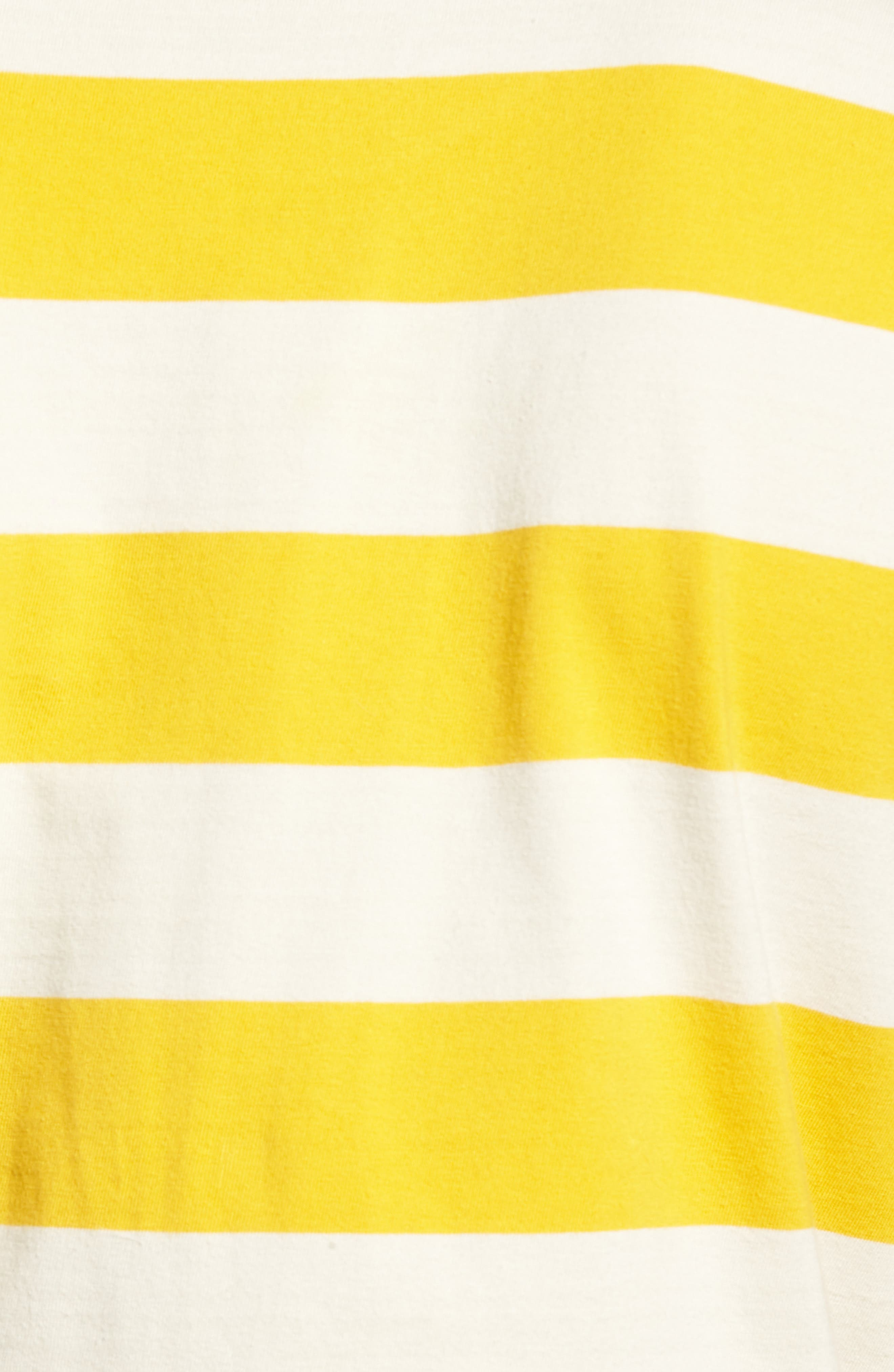 Broadcast Pocket T-Shirt,                             Alternate thumbnail 2, color,                             Natural/Mustard Yellow Stripe