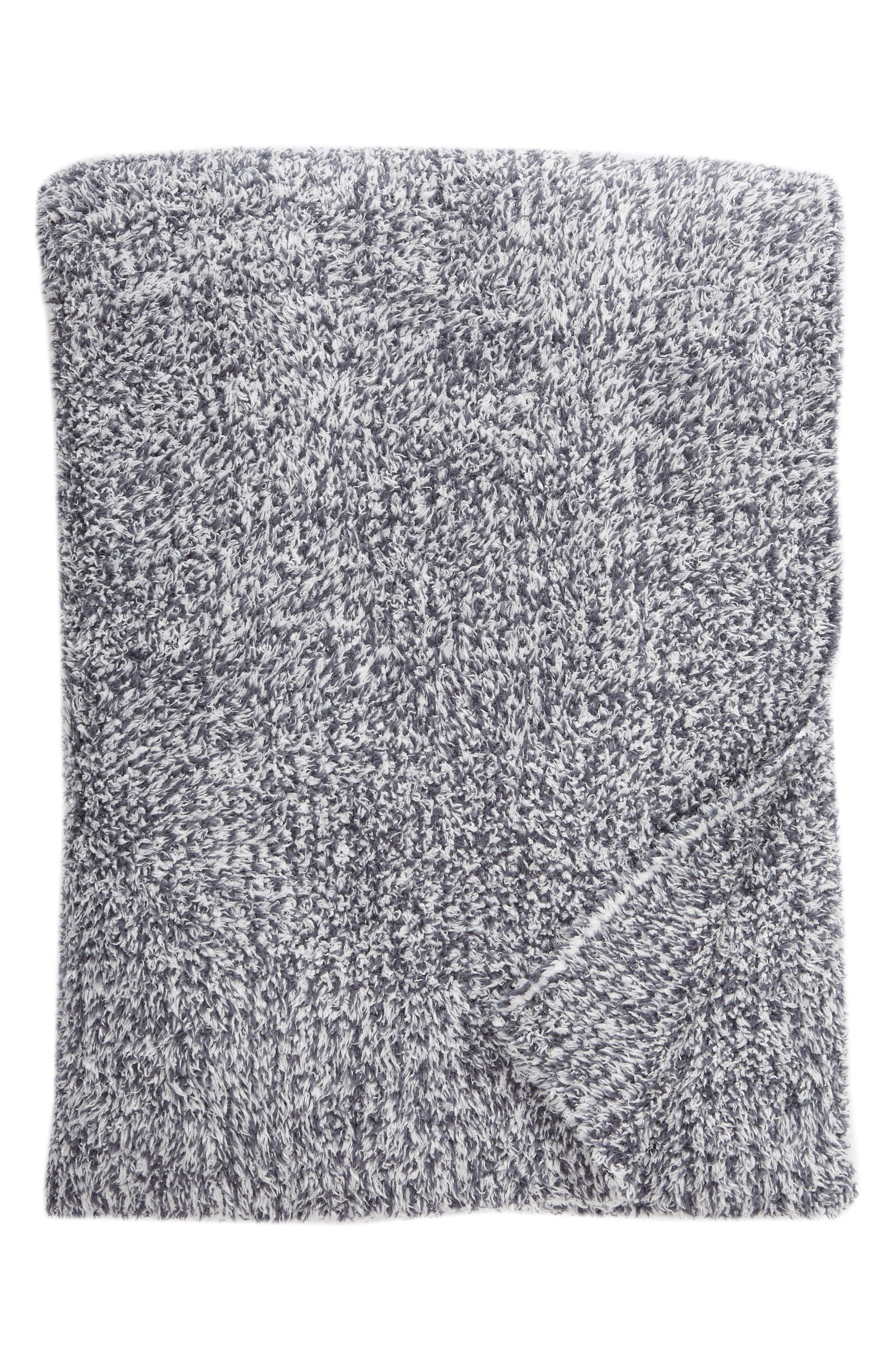 Cozychic<sup>®</sup> Heathered Throw Blanket,                         Main,                         color, Pacific Blue/ White