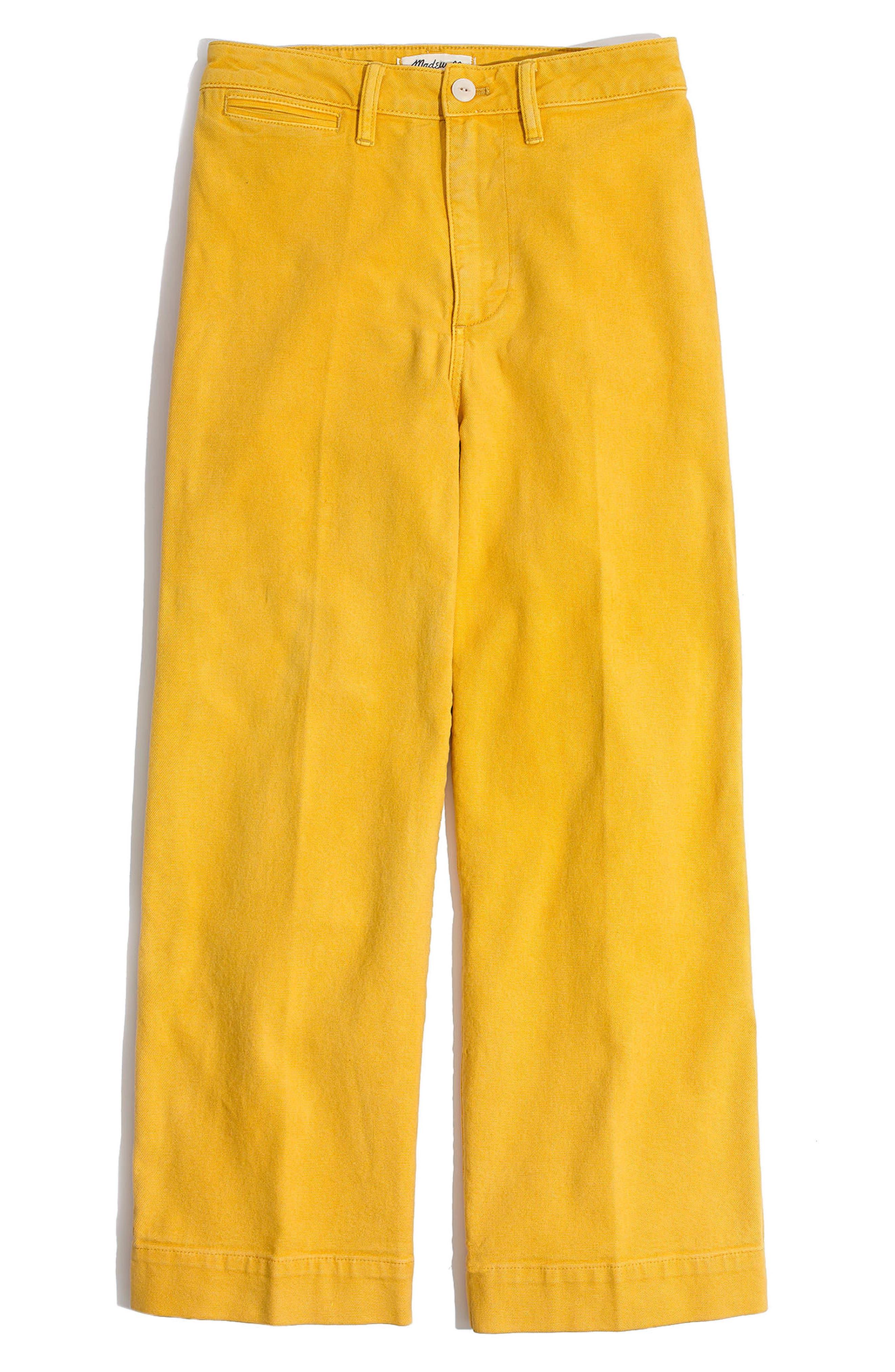 Emmett Crop Wide Leg Pants,                             Main thumbnail 1, color,                             Greek Gold