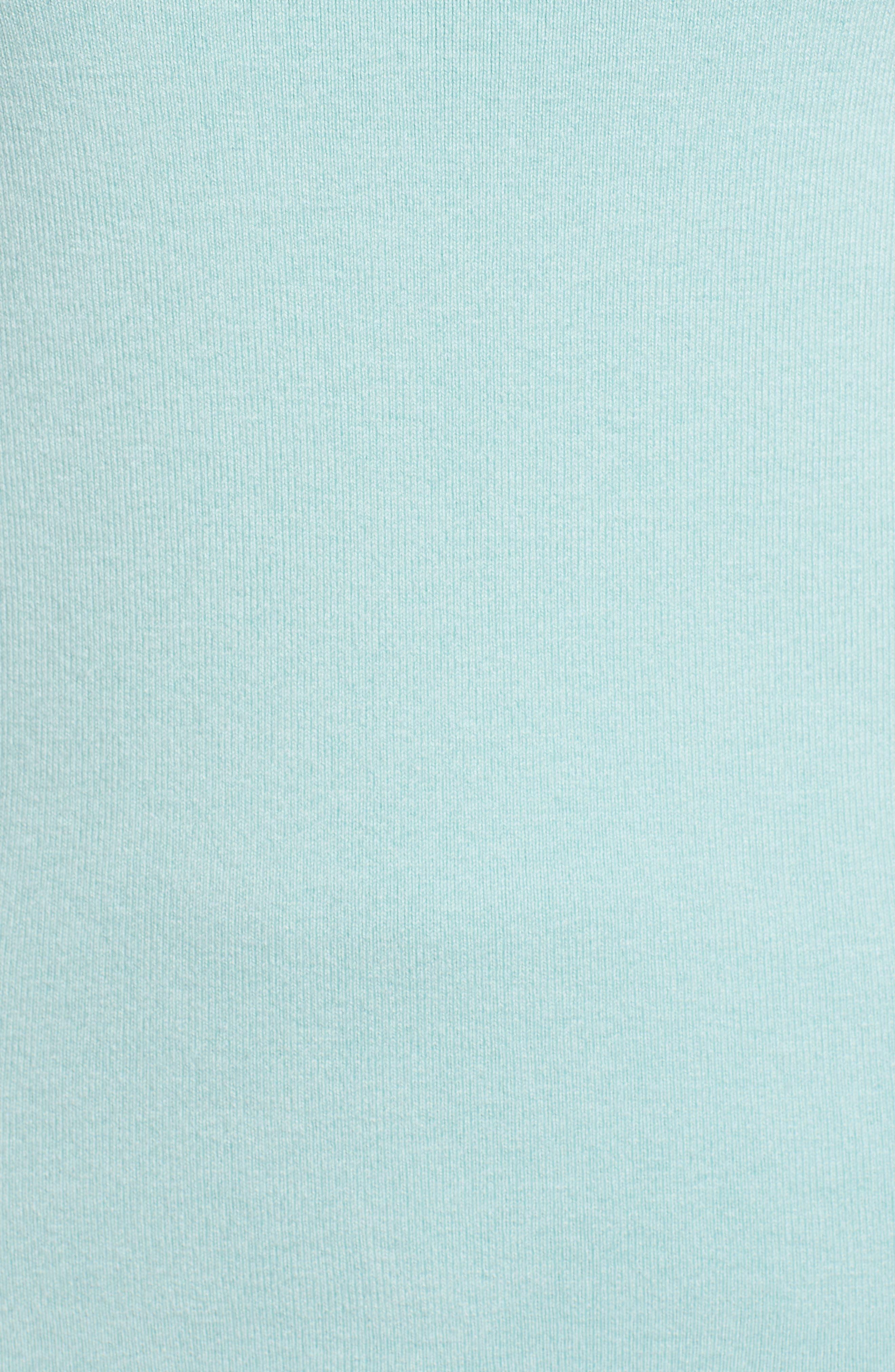 Halogen Scallop Edge Sweater,                             Alternate thumbnail 5, color,                             Blue Resort