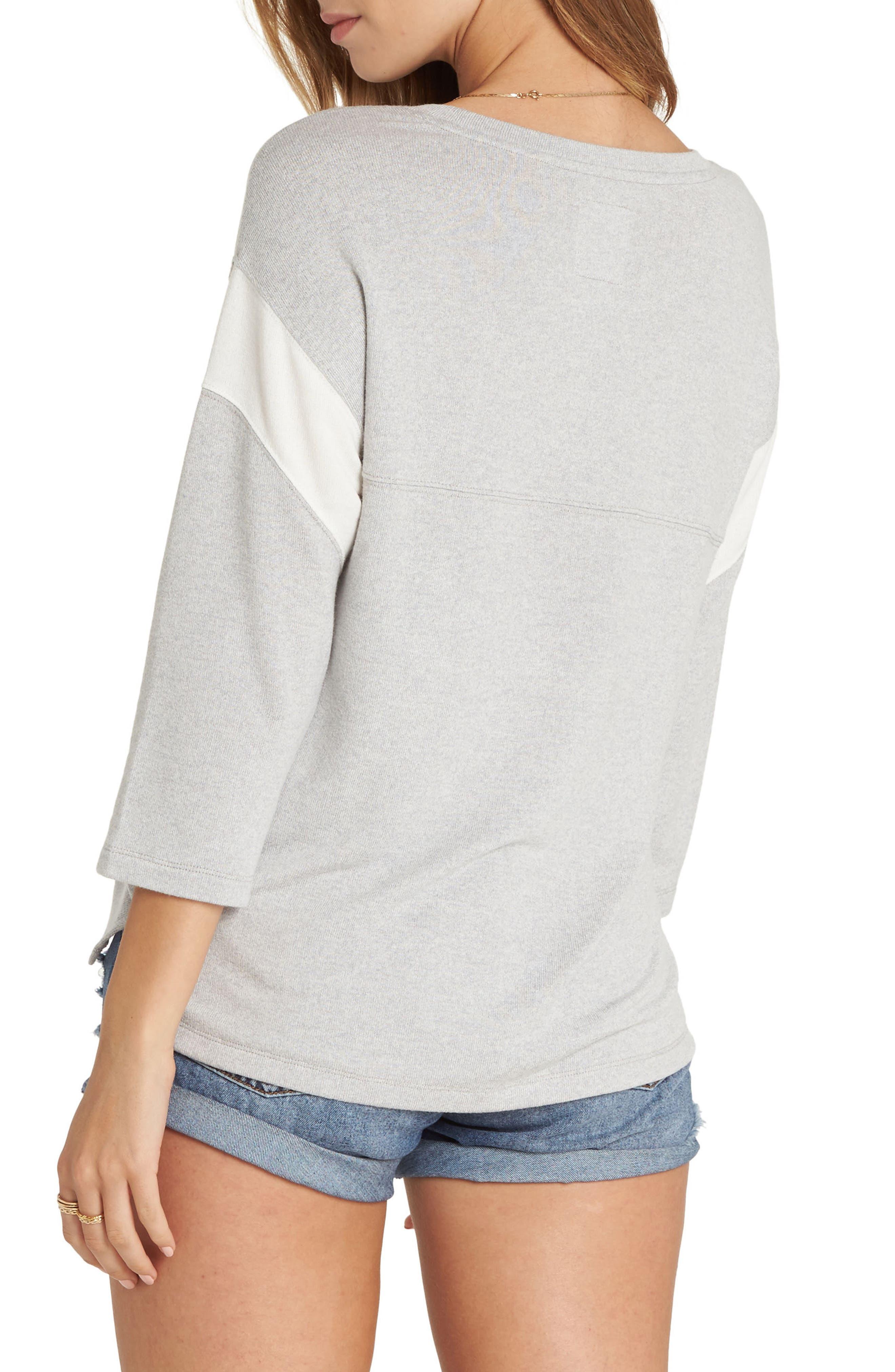 Kicking Game Sweatshirt,                             Alternate thumbnail 2, color,                             Ice Athletic Grey