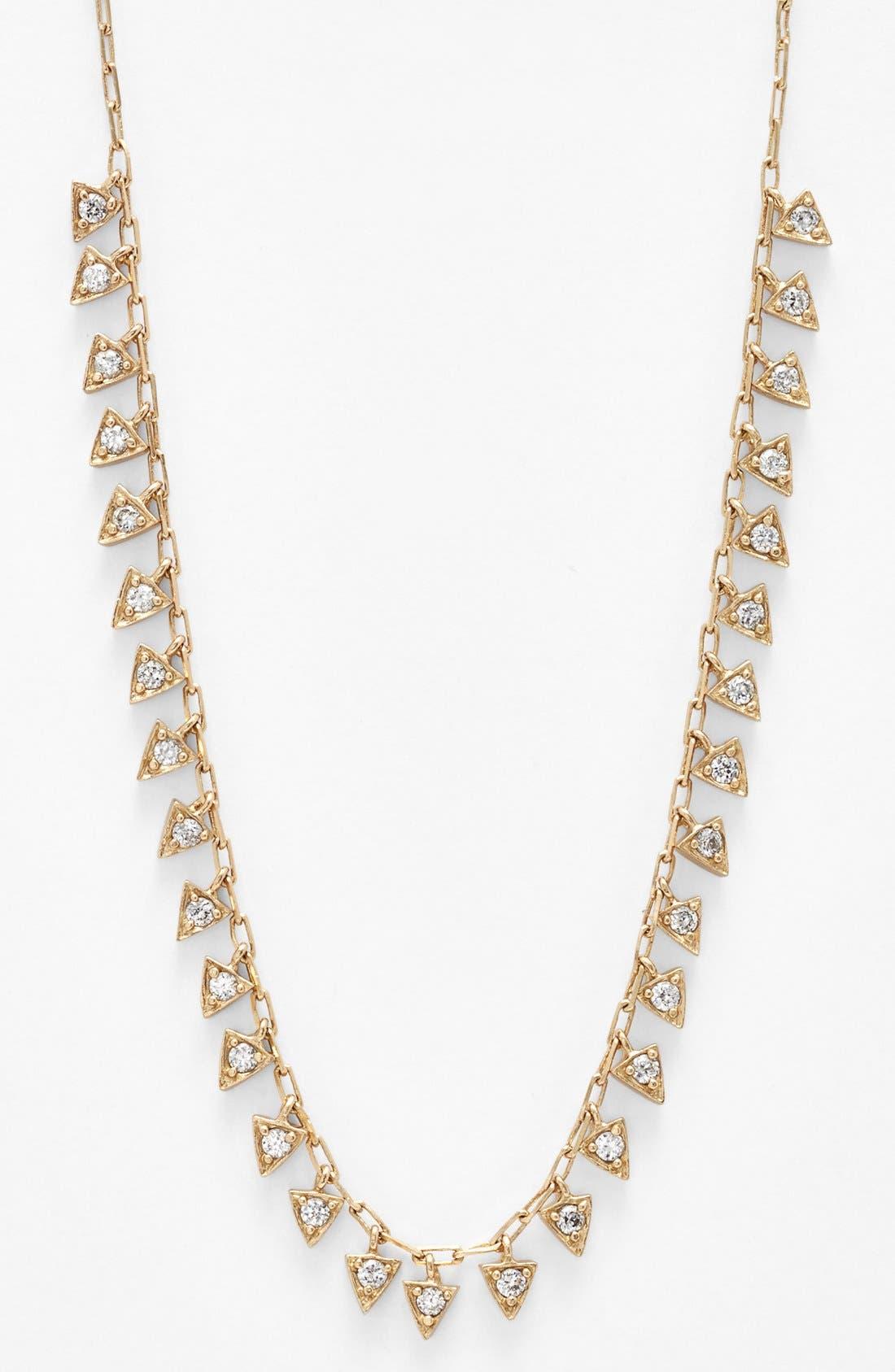 Alternate Image 1 Selected - Melinda Maria 'Pyramid - Mini Fringe' Frontal Necklace