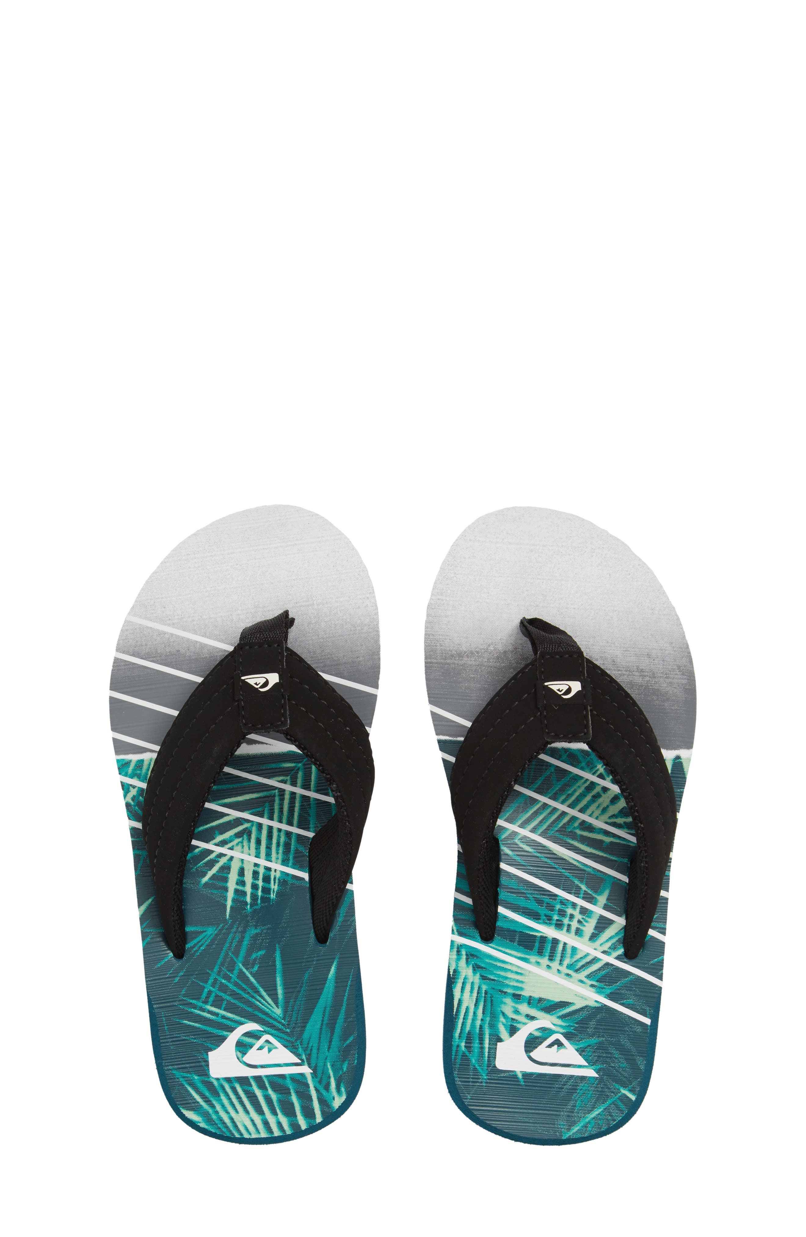 Carver Flip Flop,                             Main thumbnail 1, color,                             Black/ Green