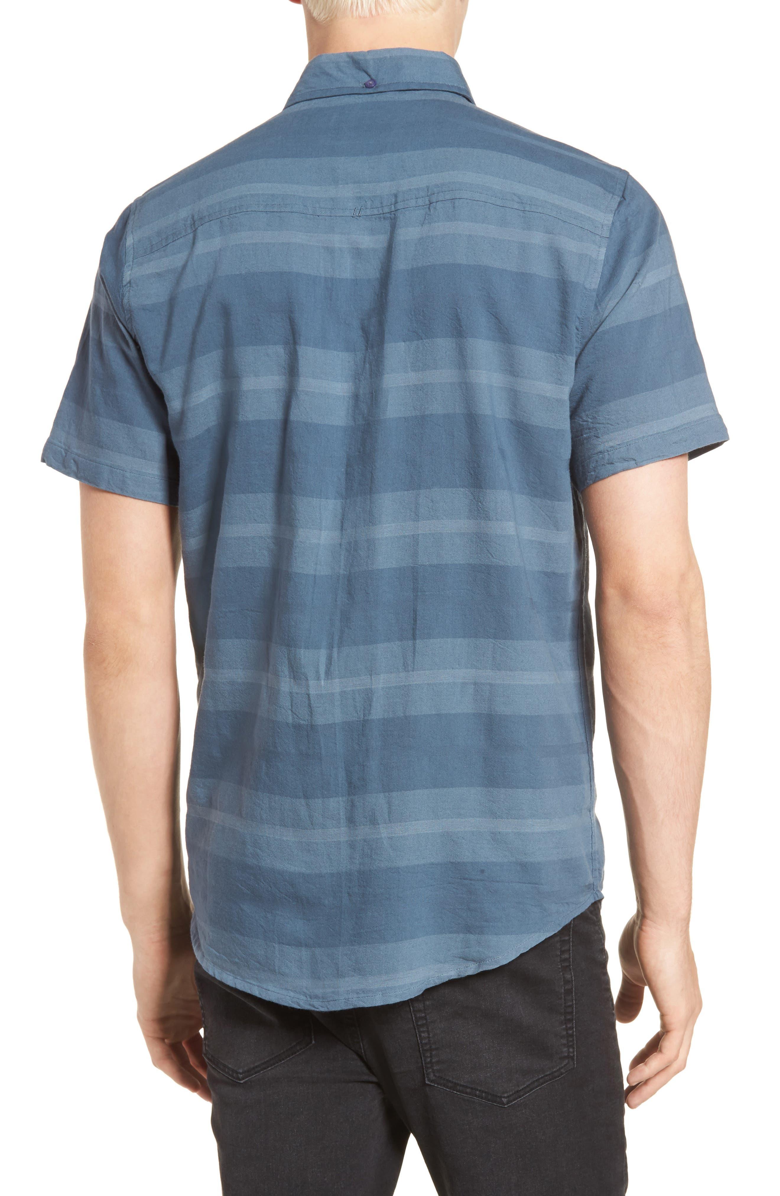 Dobson Woven Shirt,                             Alternate thumbnail 3, color,                             Storm Blue/Prison Blue Stripe