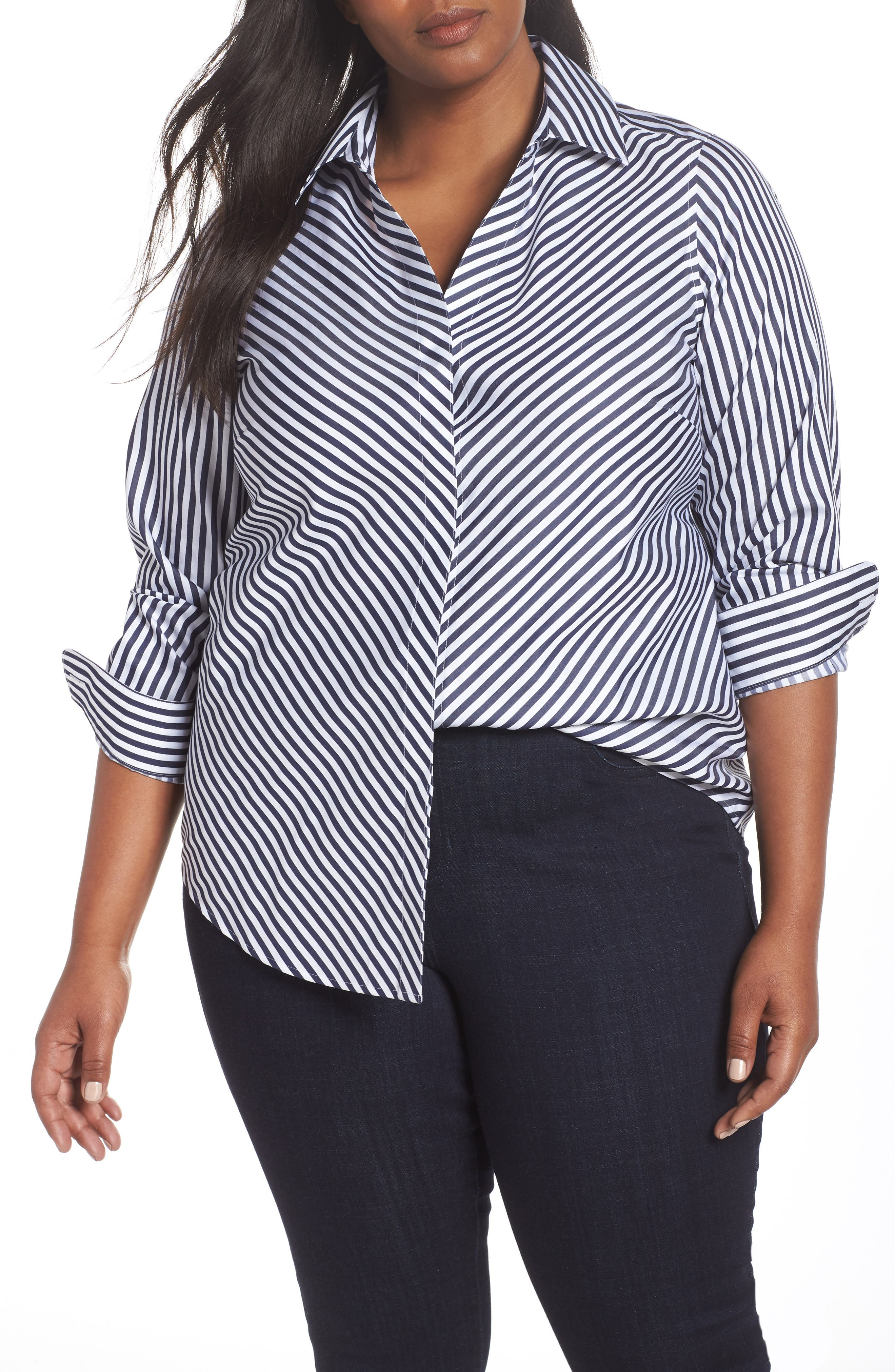 MONO STRIPE SATEEN SHIRT
