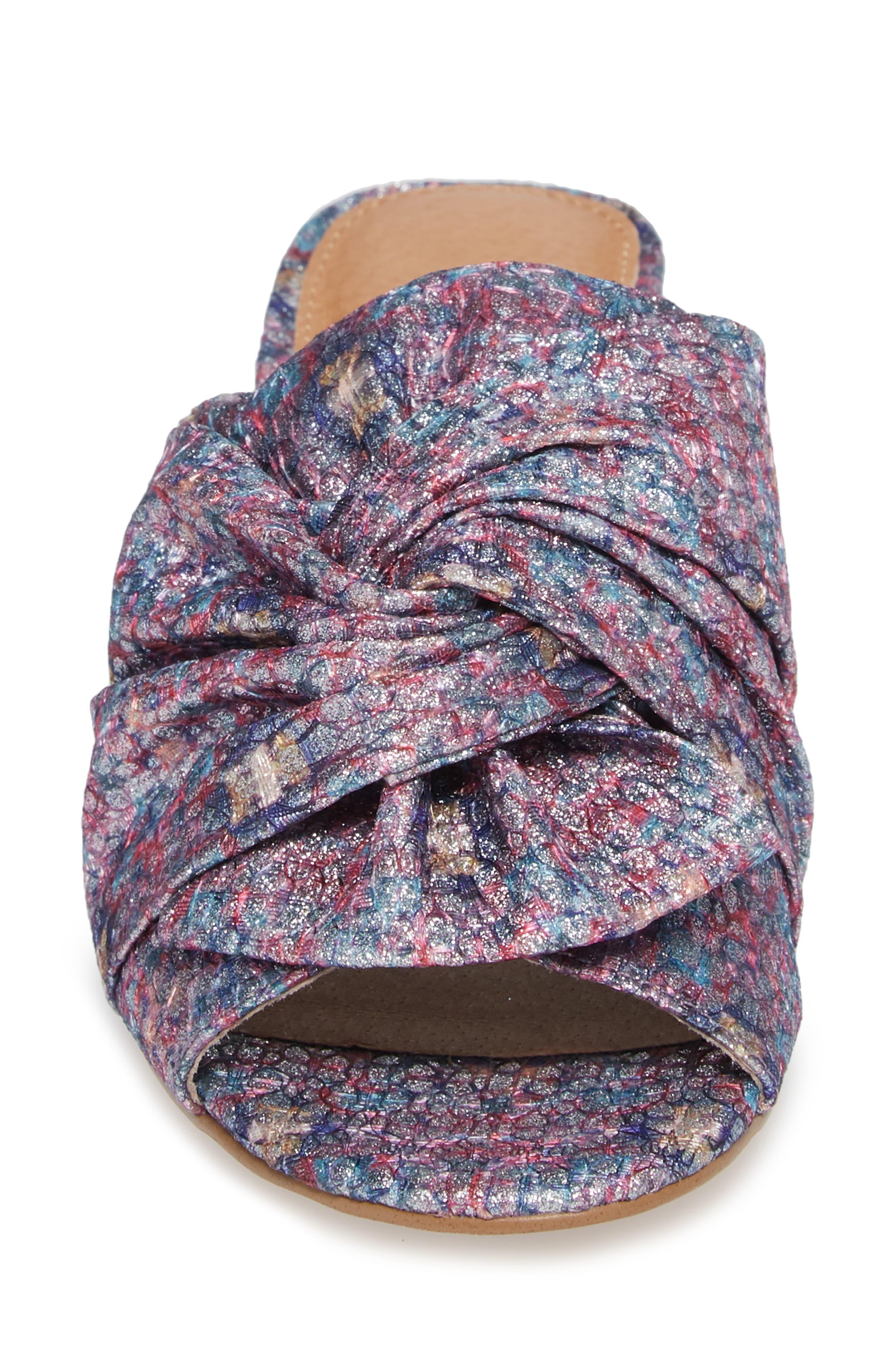 Farrah Sandal,                             Alternate thumbnail 4, color,                             Bright Confetti Fabric
