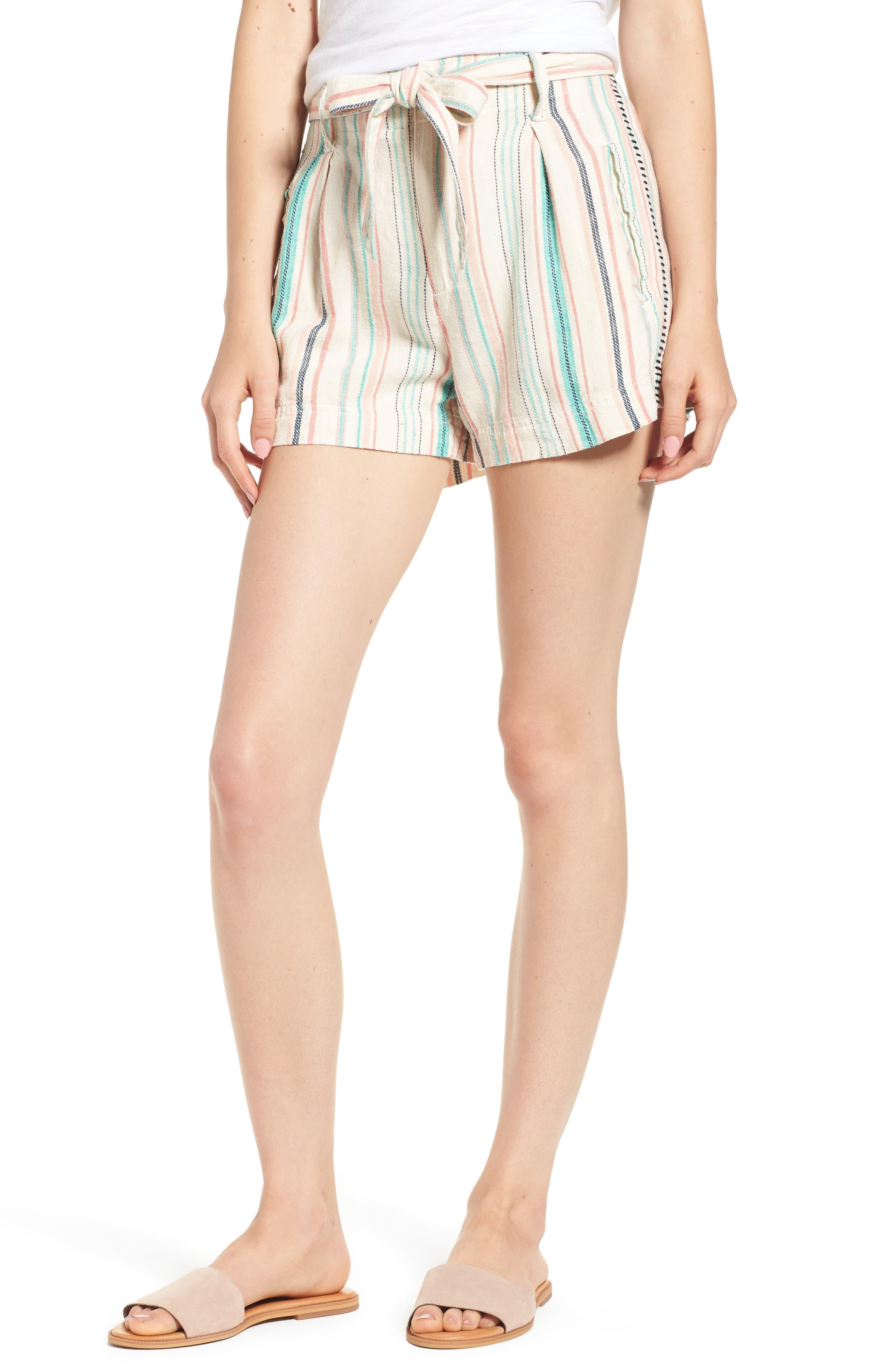 La Paz Stripe Twill Shorts,                             Main thumbnail 1, color,                             Multi