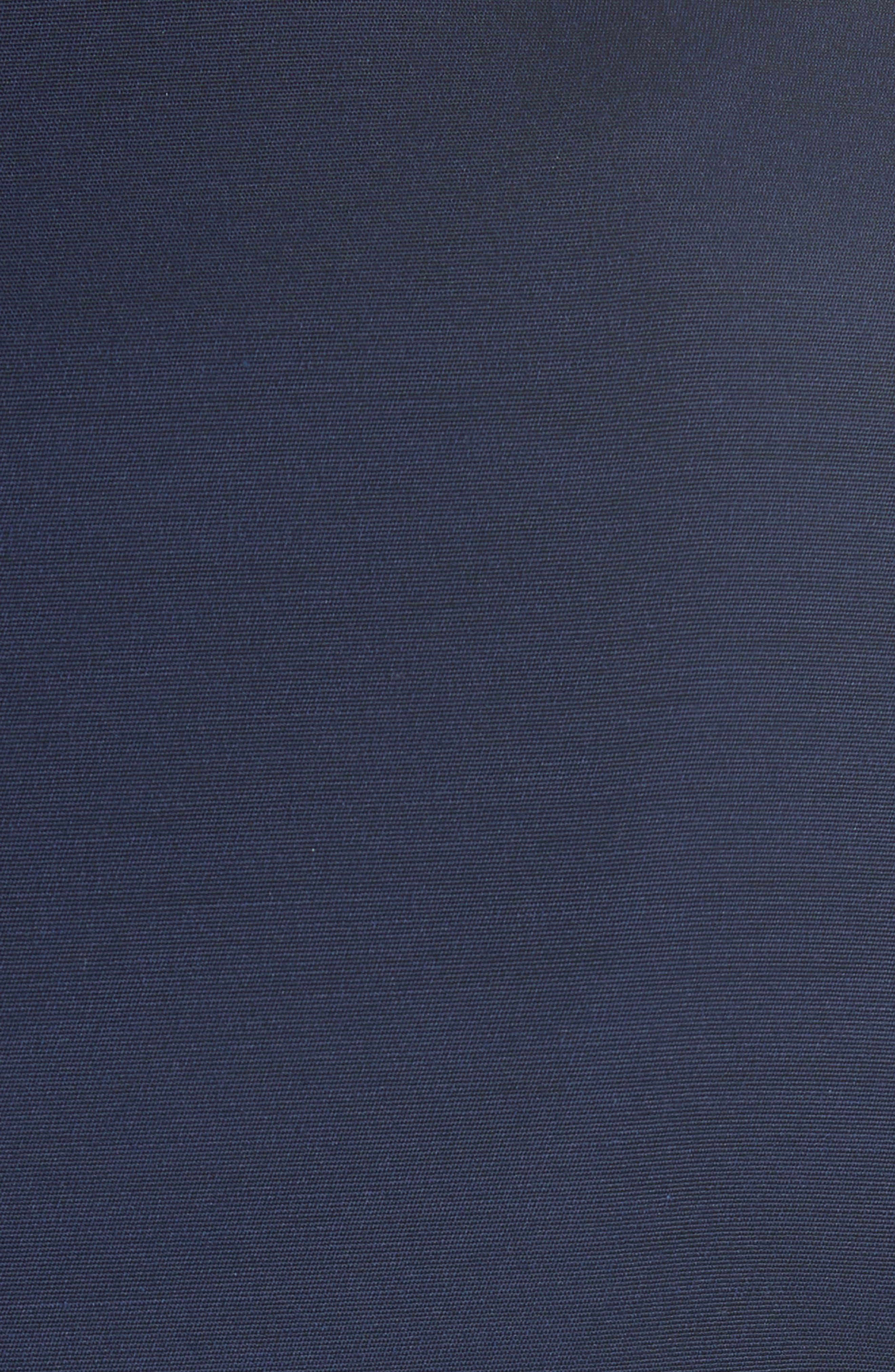 Rayal Bow Neck Peplum Jacket,                             Alternate thumbnail 5, color,                             Dark Blue
