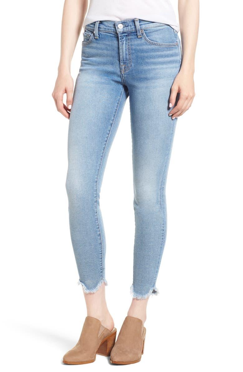 Scallop Hem Ankle Skinny Jeans