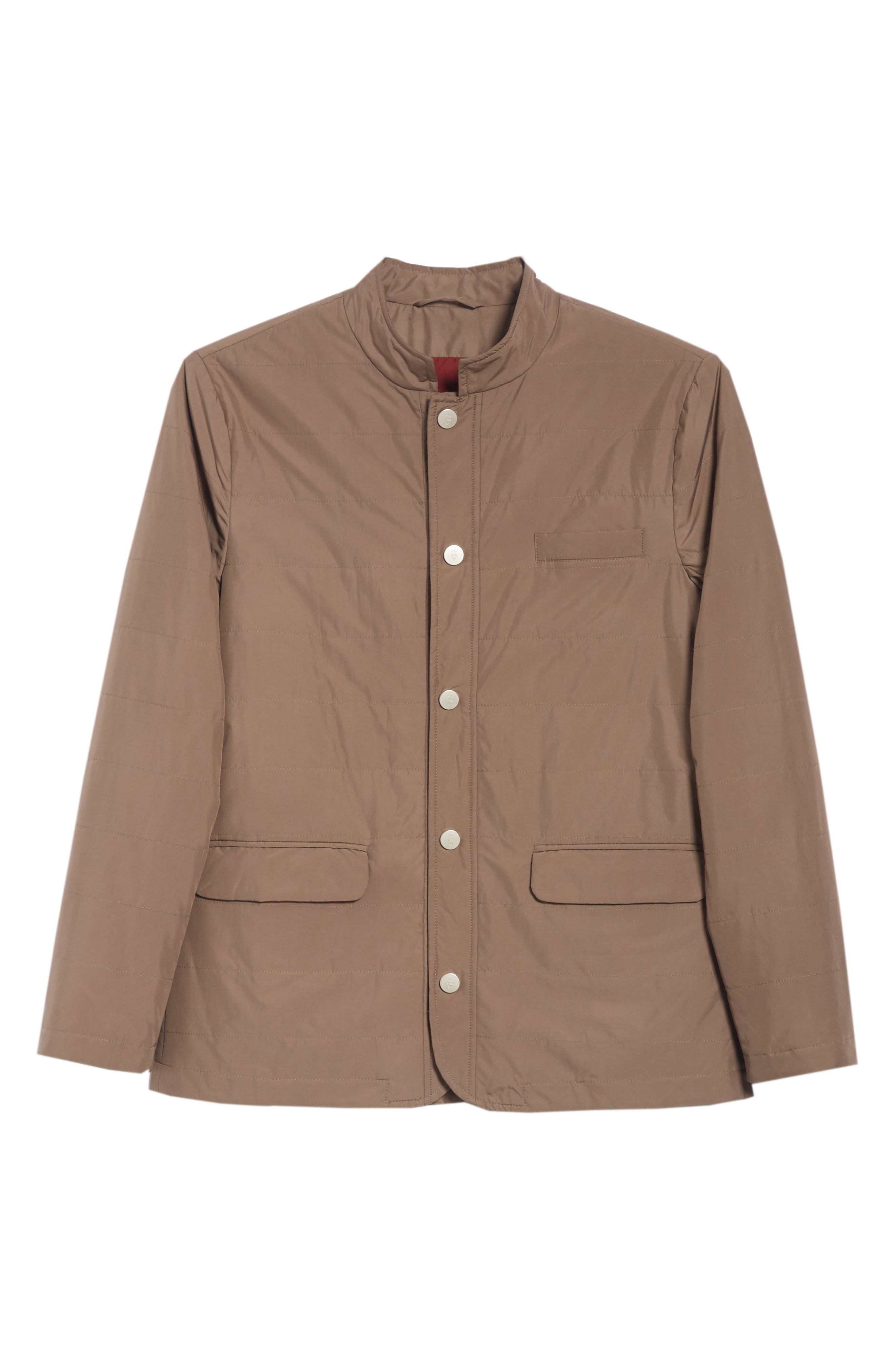 Quilted Jacket,                             Alternate thumbnail 6, color,                             Taupe