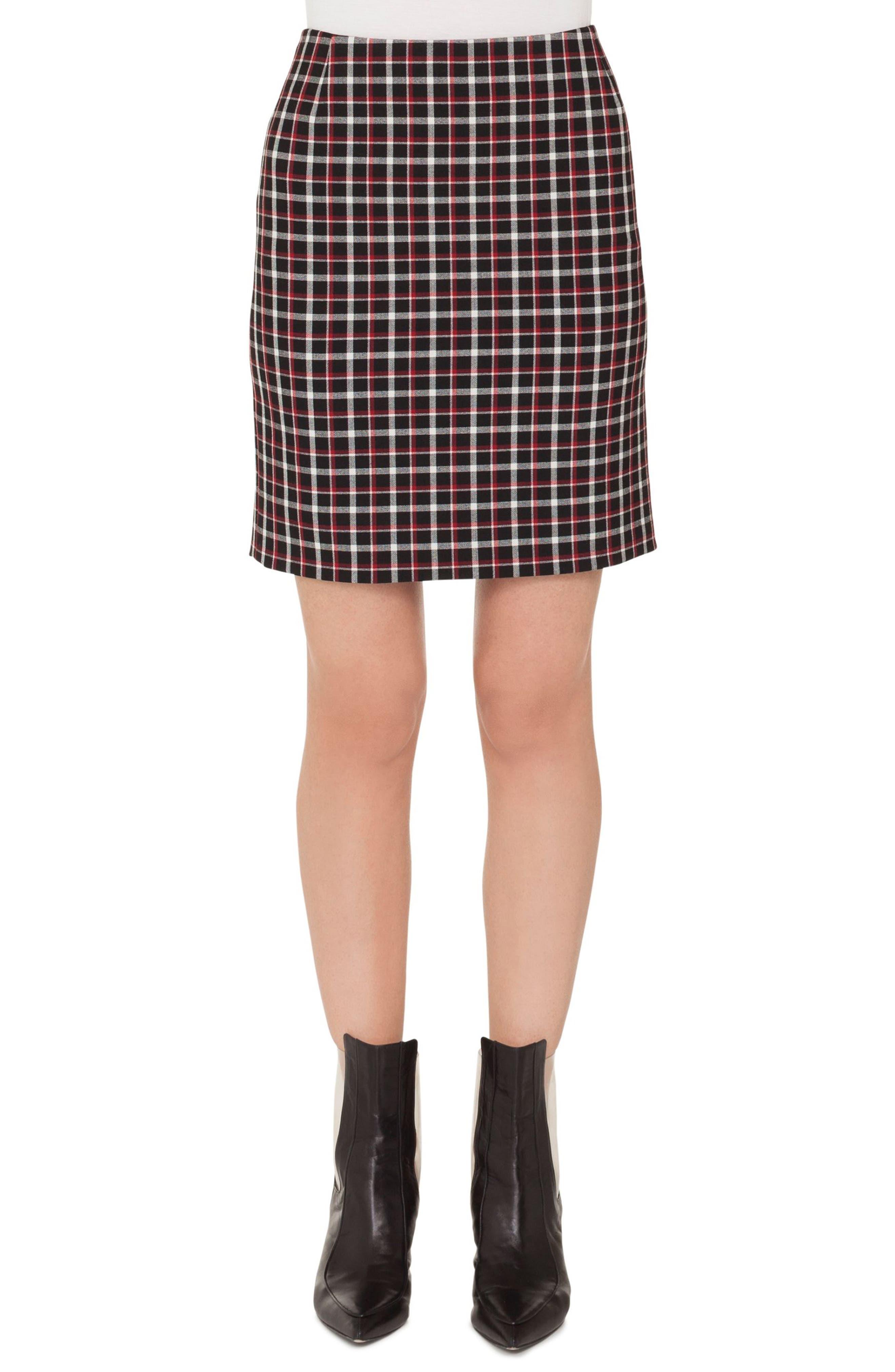 Akris punto Checked Miniskirt