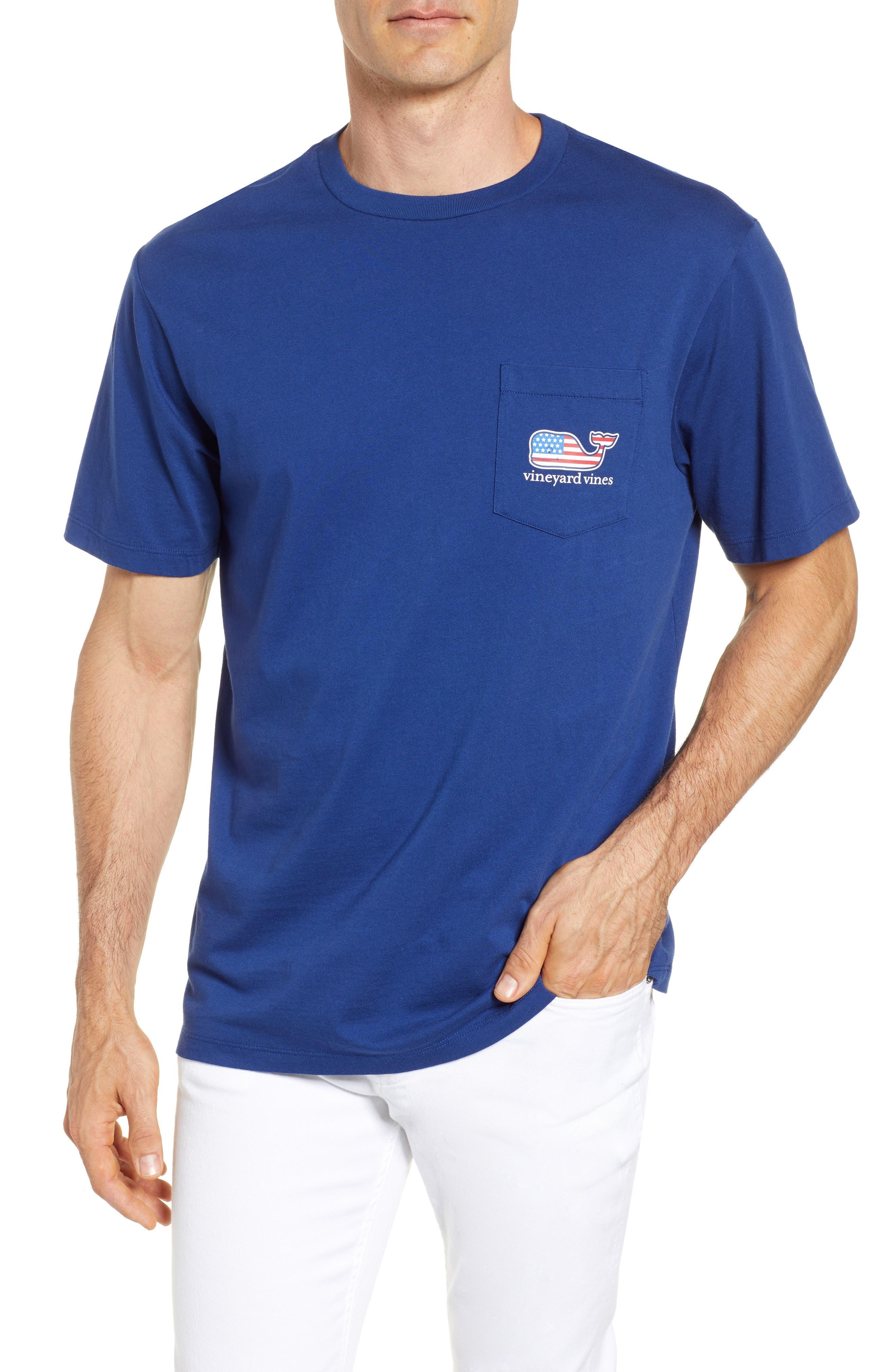 U.S. Tradition Pocket T-Shirt,                         Main,                         color, Blue Depth
