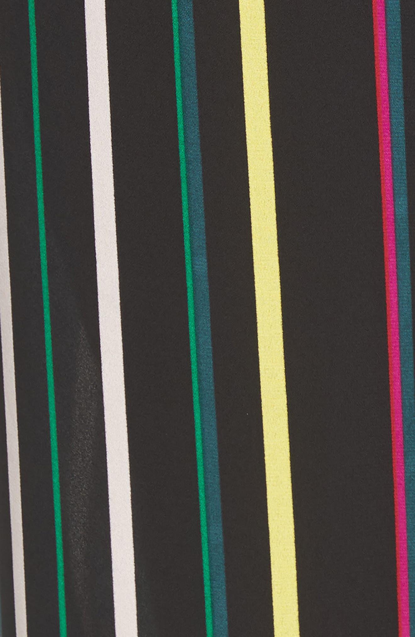 Paradise Stripe Jumpsuit,                             Alternate thumbnail 5, color,                             Rich Black