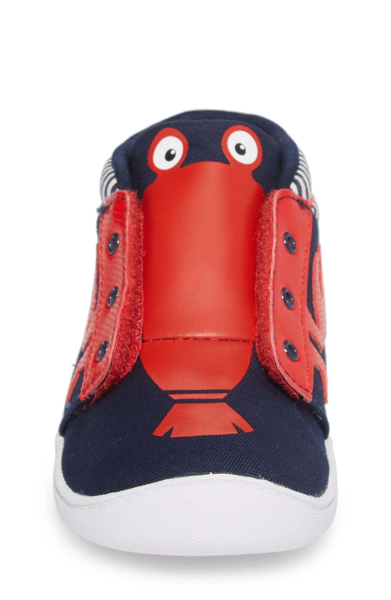Ventureflex High Top Critter Sneaker,                             Alternate thumbnail 4, color,                             Blue