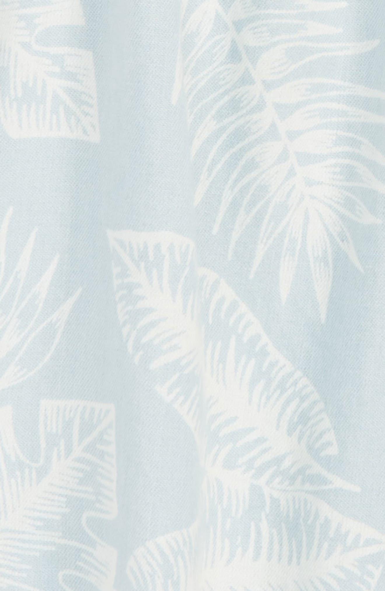 Print Keyhole Top,                             Alternate thumbnail 2, color,                             Blue Palms Wash