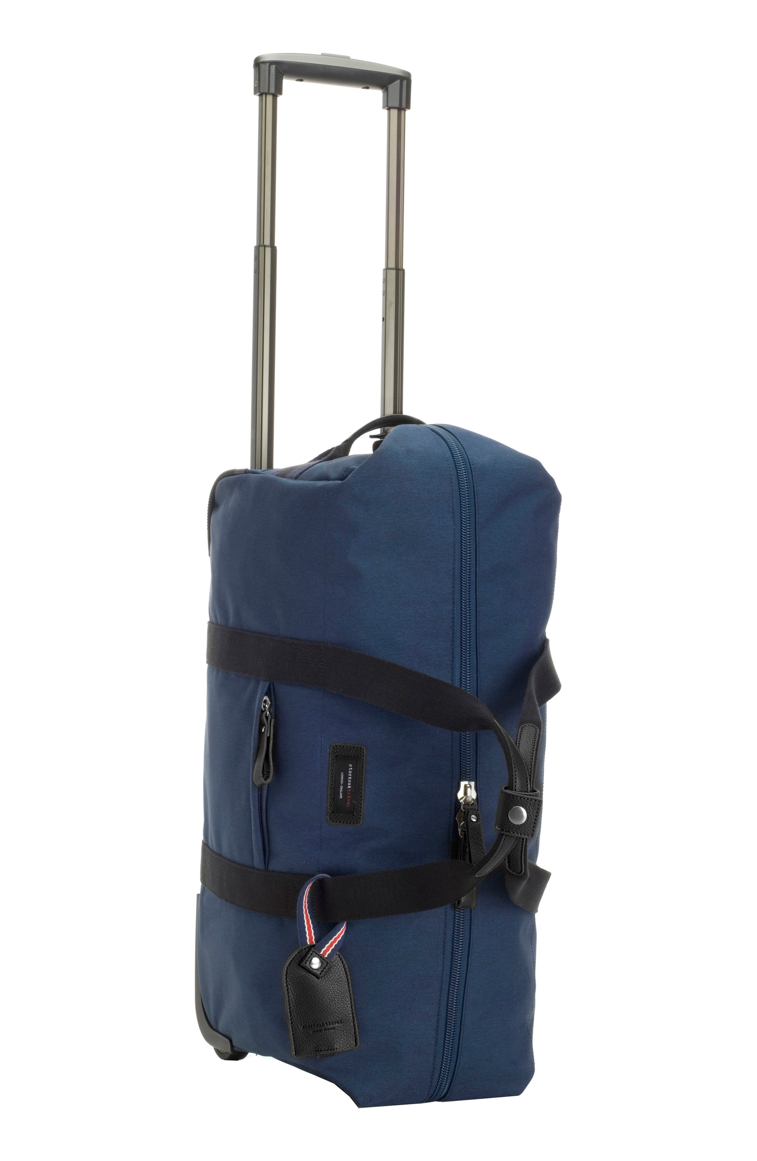 Cabin Wheeled Carry-On with Hanging Organizer,                             Alternate thumbnail 2, color,                             Navy