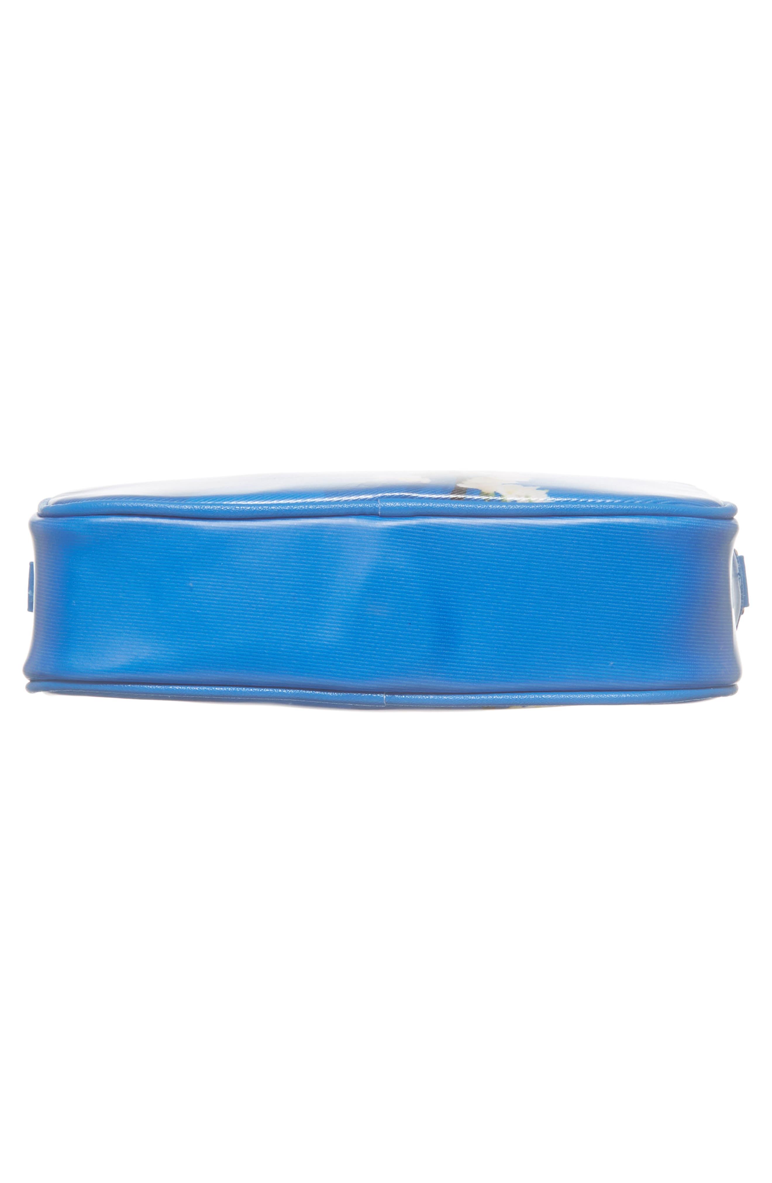Harmony Print Canvas Camera Bag,                             Alternate thumbnail 6, color,                             Bright Blue