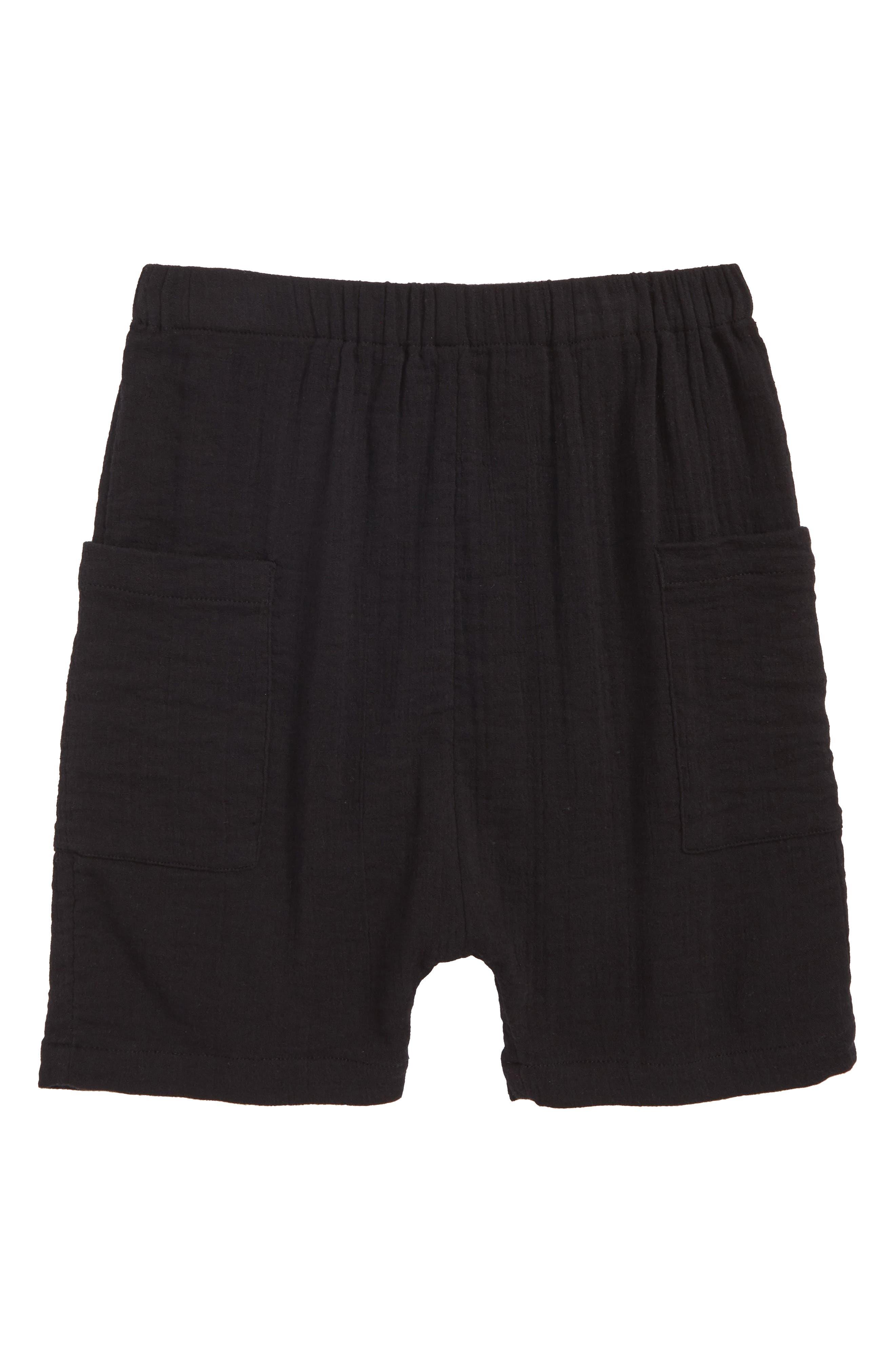 Textured Pocket Shorts,                             Main thumbnail 1, color,                             Black