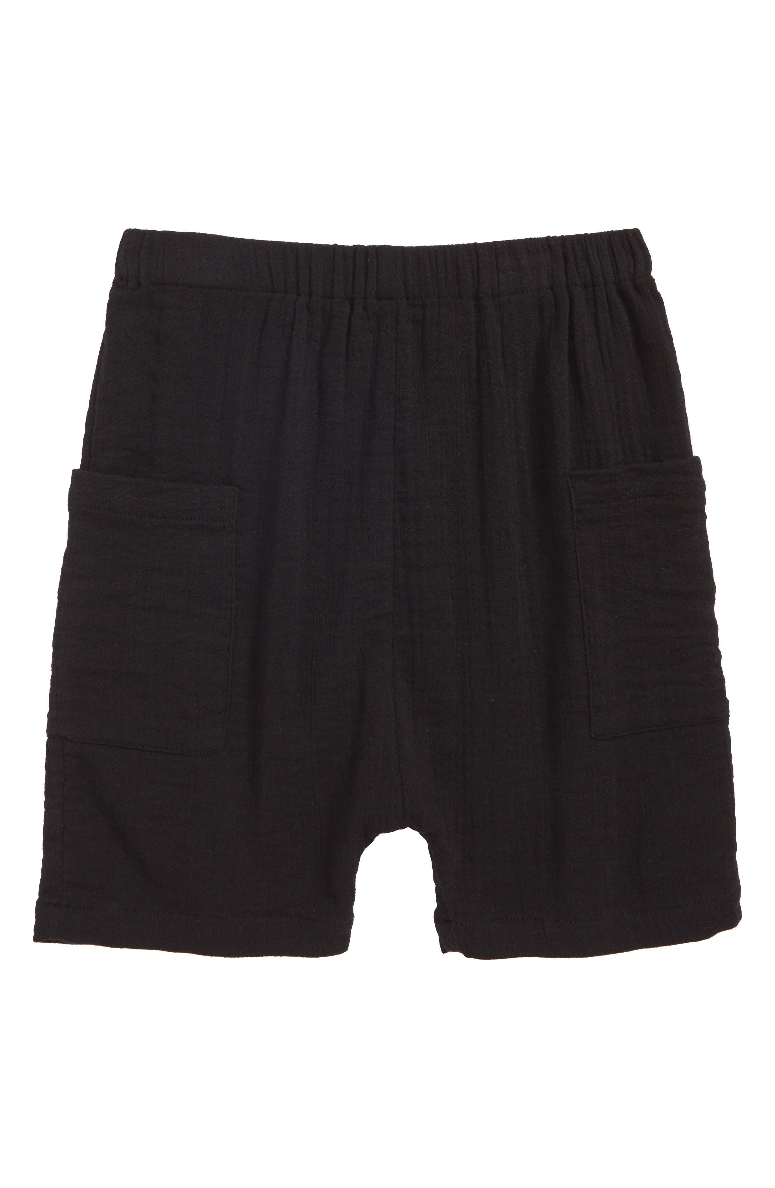 Textured Pocket Shorts,                         Main,                         color, Black