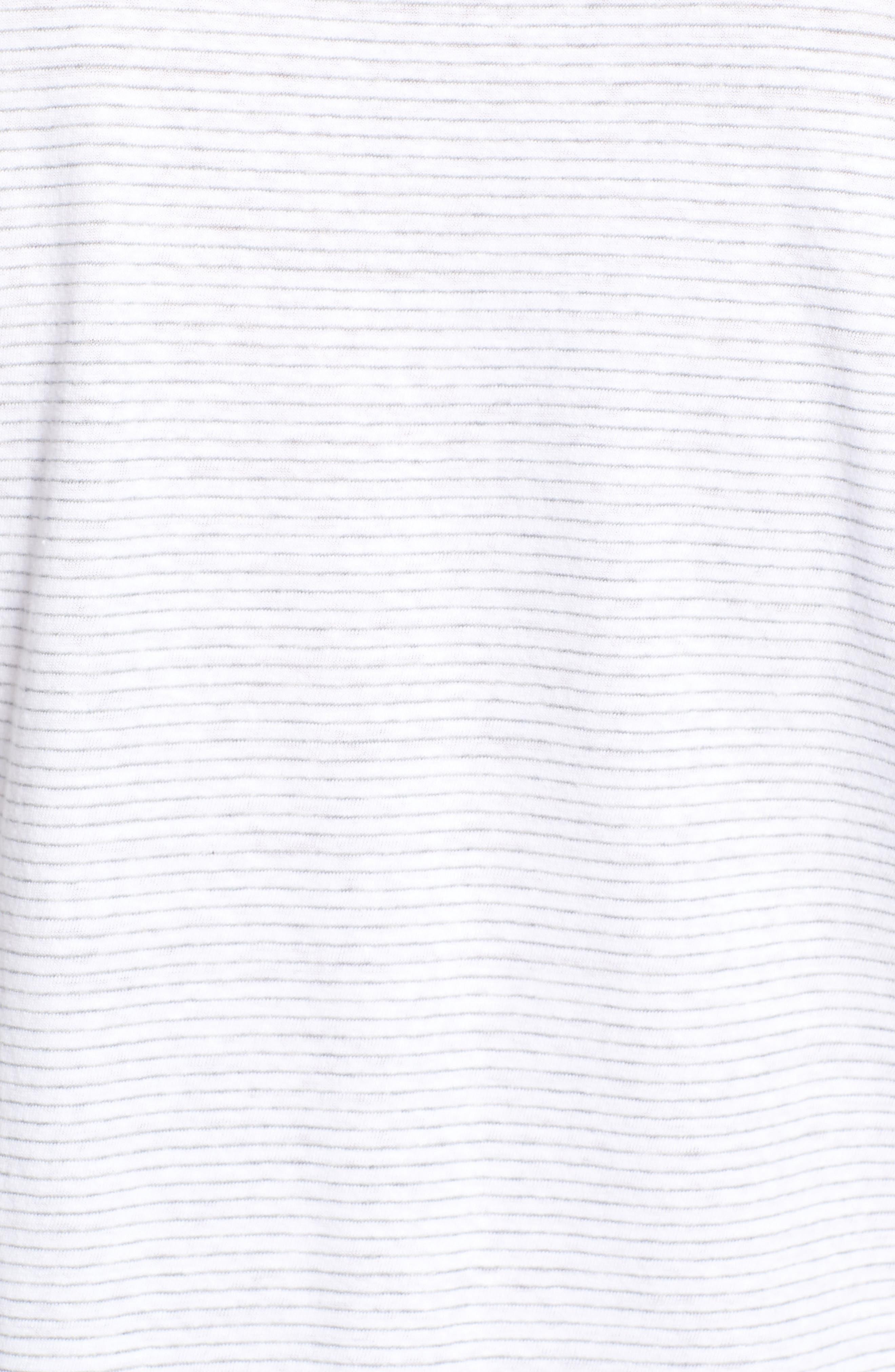 Stripe Linen & Cotton Polo,                             Alternate thumbnail 5, color,                             White Cap