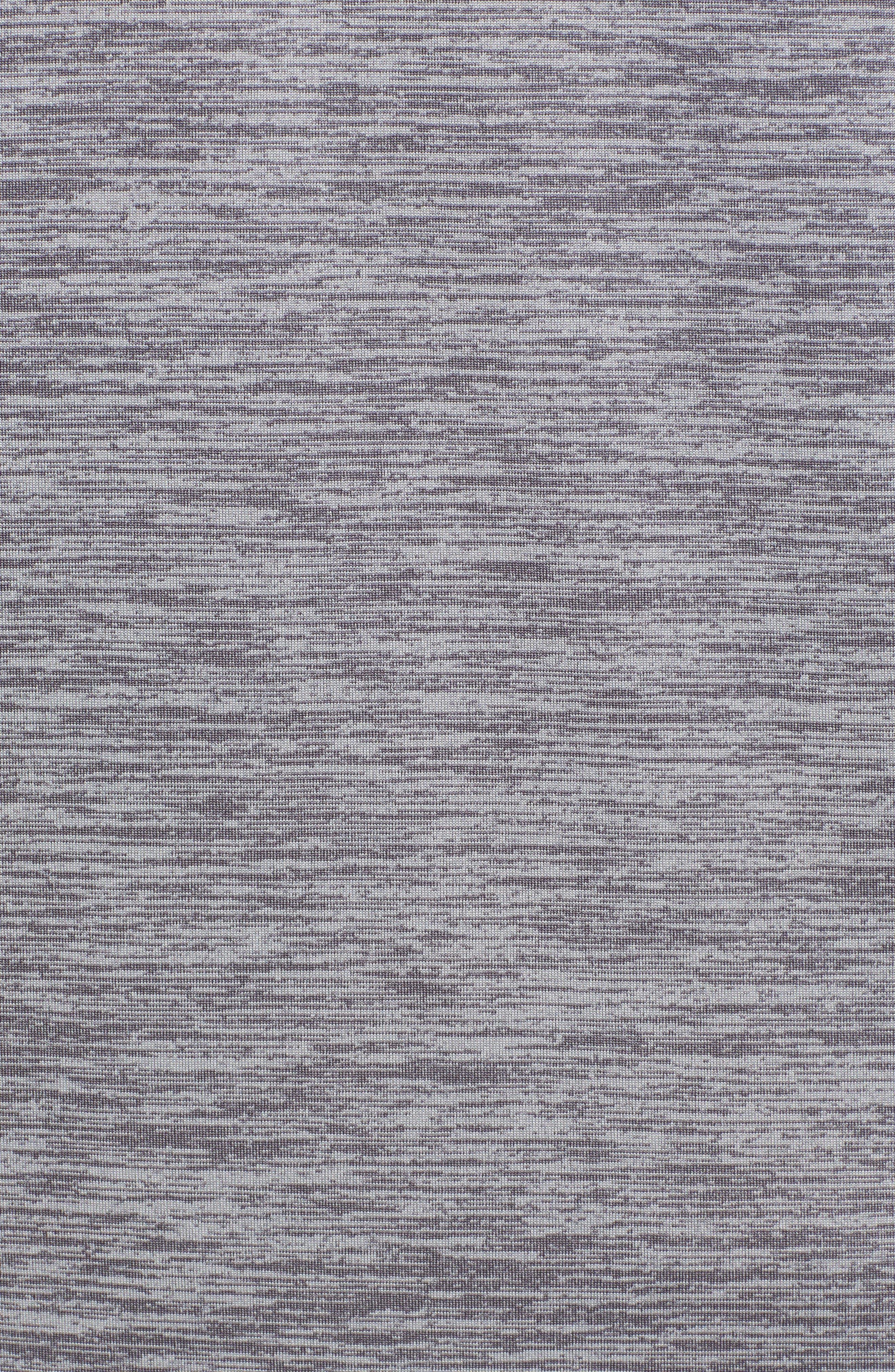 Performance Stripe Bass Long Sleeve T-Shirt,                             Alternate thumbnail 5, color,                             Charcoal Heather