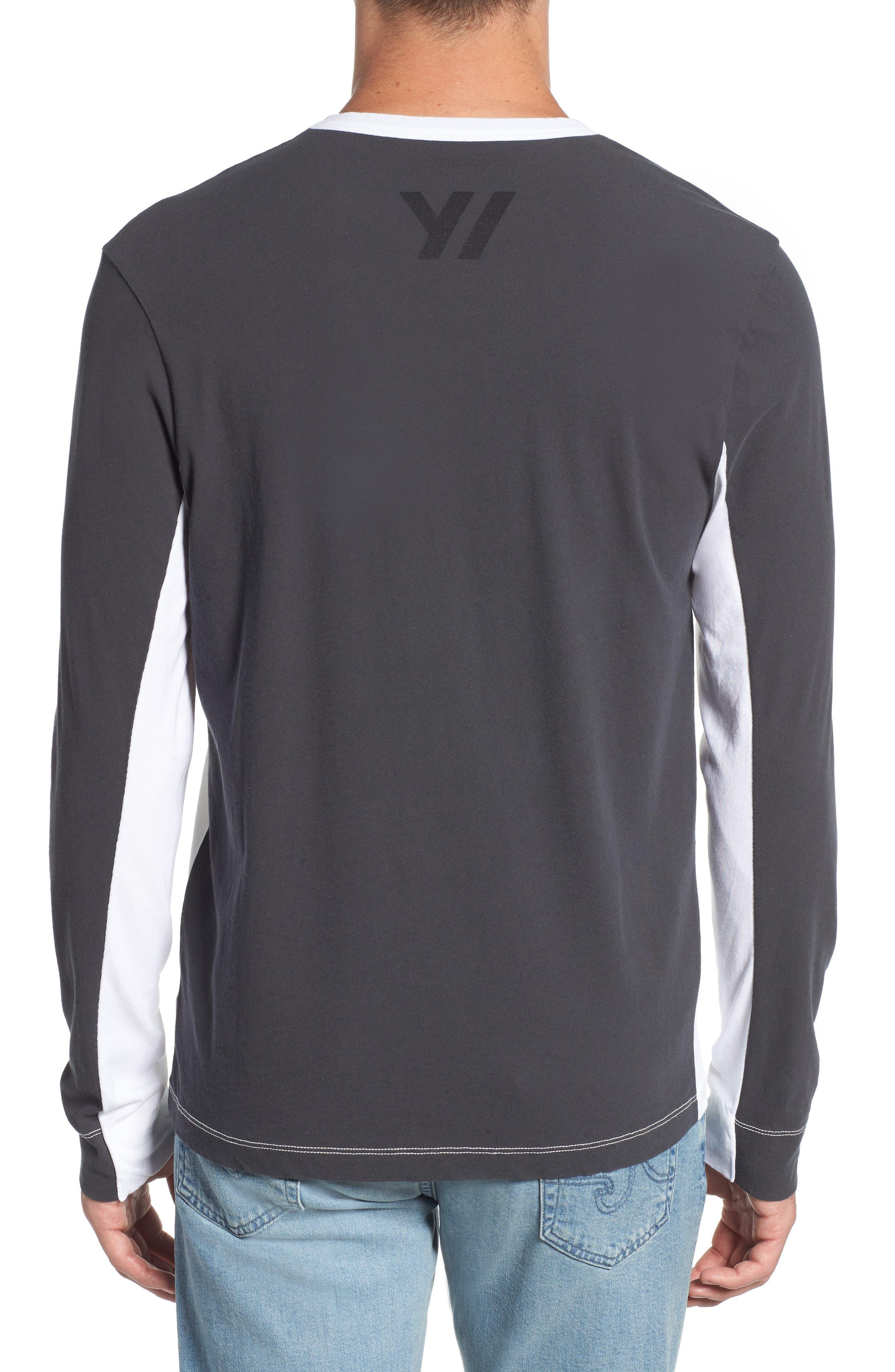 Colorblock Motocross Shirt,                             Alternate thumbnail 2, color,                             Carbon White