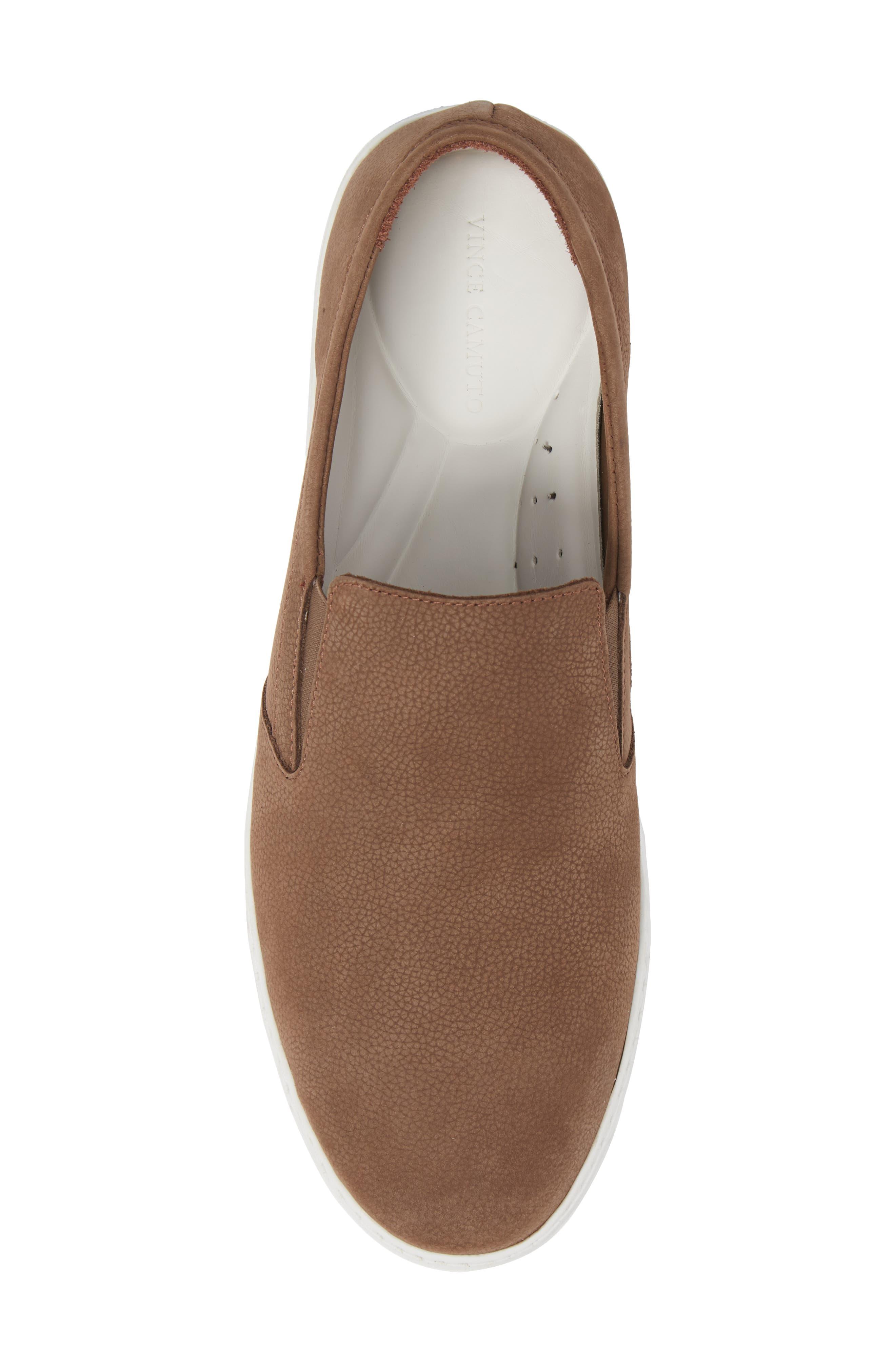 Neff Slip-On Sneaker,                             Alternate thumbnail 5, color,                             Taupe Leather